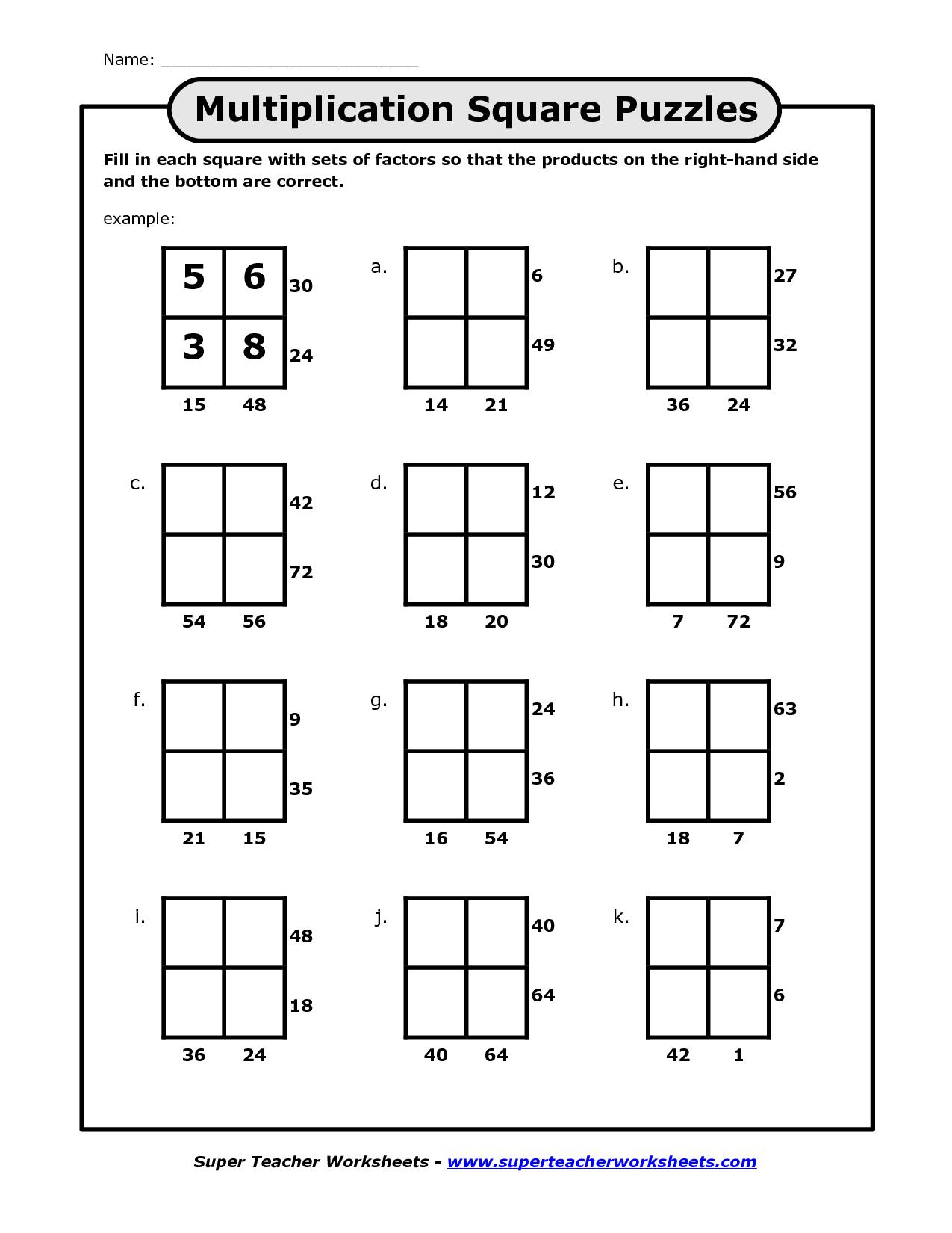 12 Best Images Of Place Value Multiplication Worksheets
