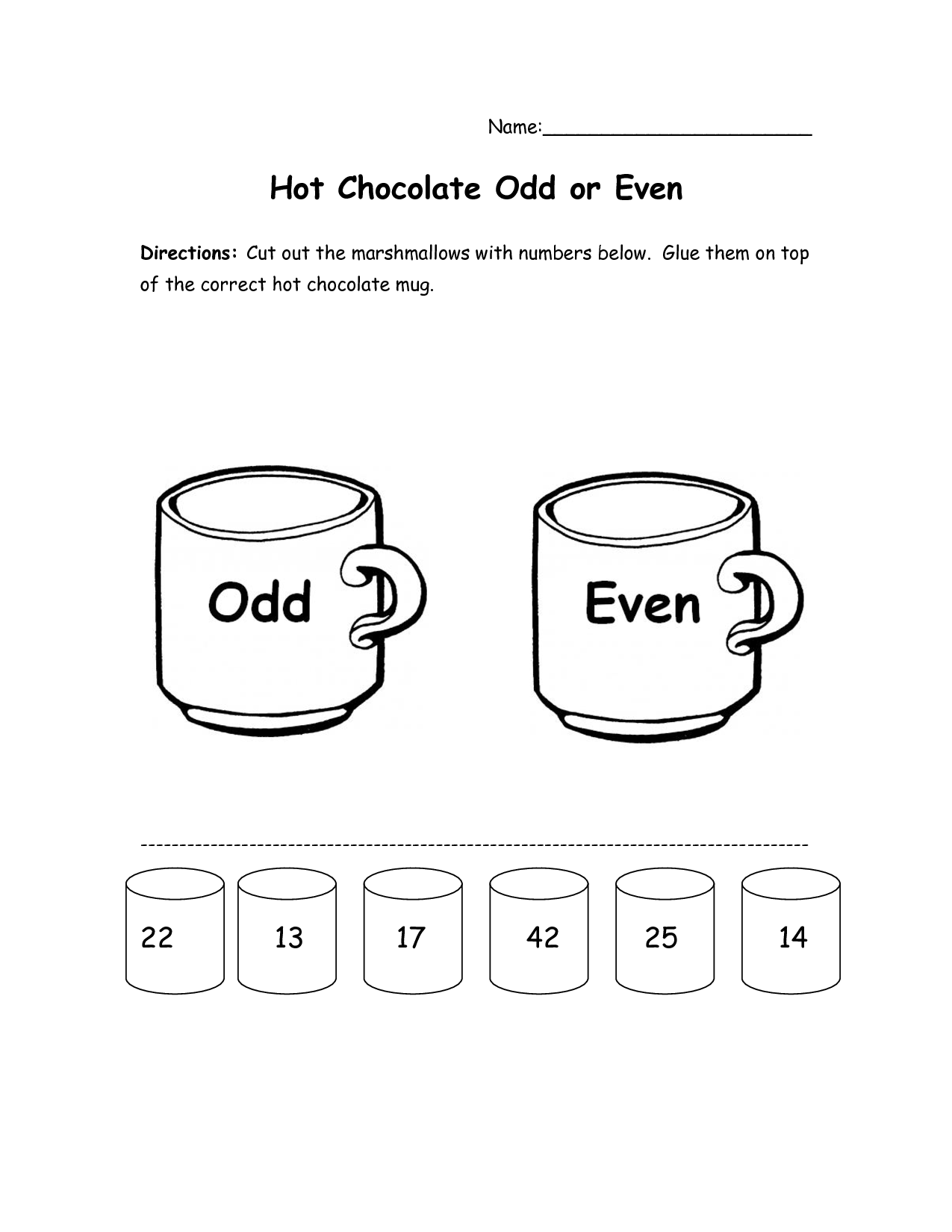 17 Best Images Of Hot Chocolate Worksheet