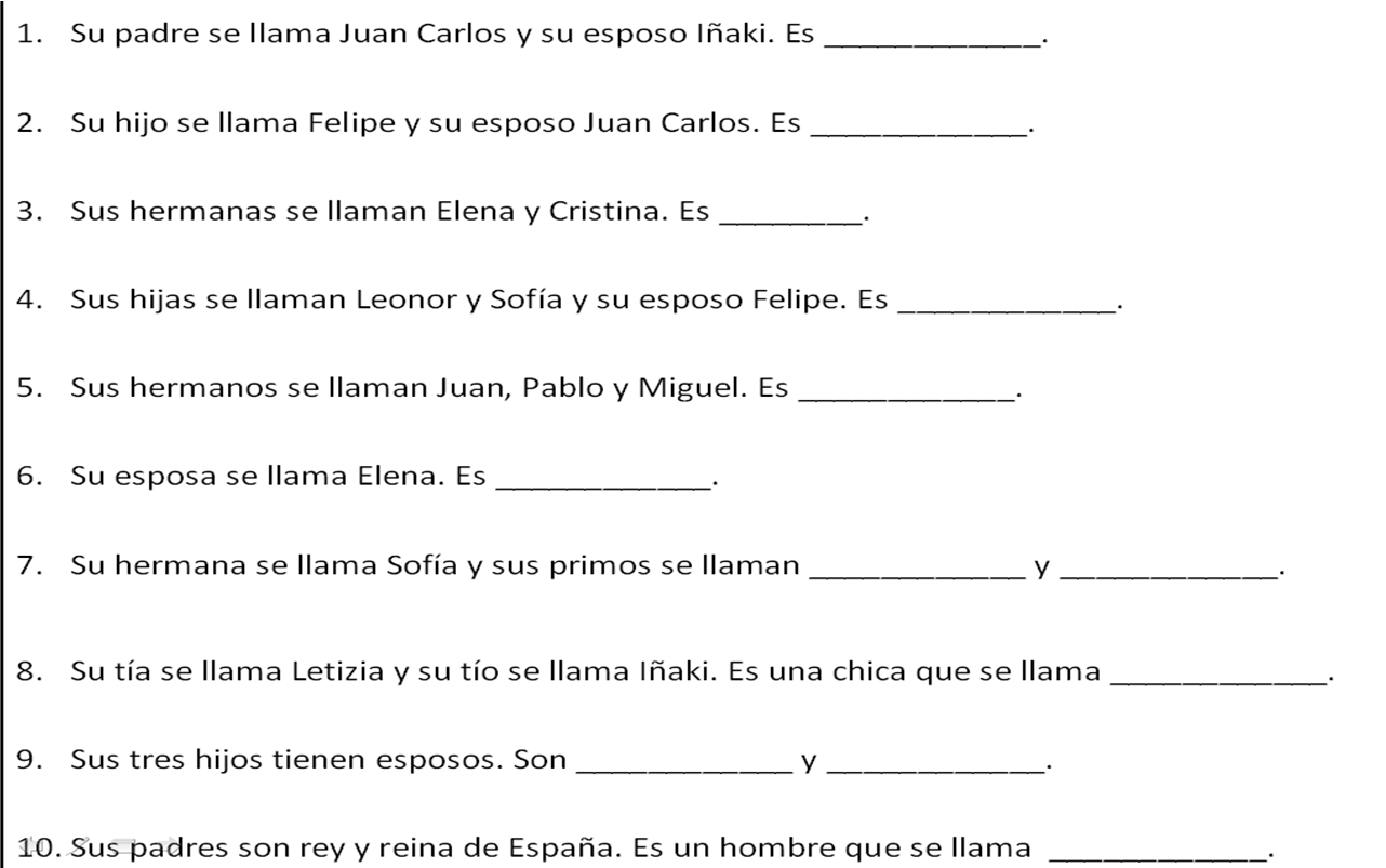 14 Best Images Of Spanish House Worksheet