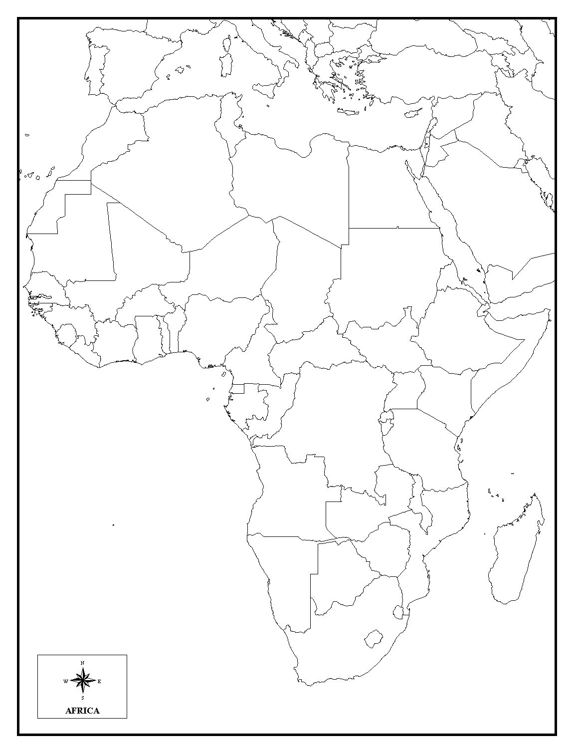 9 Best Images Of Africa Map Worksheet