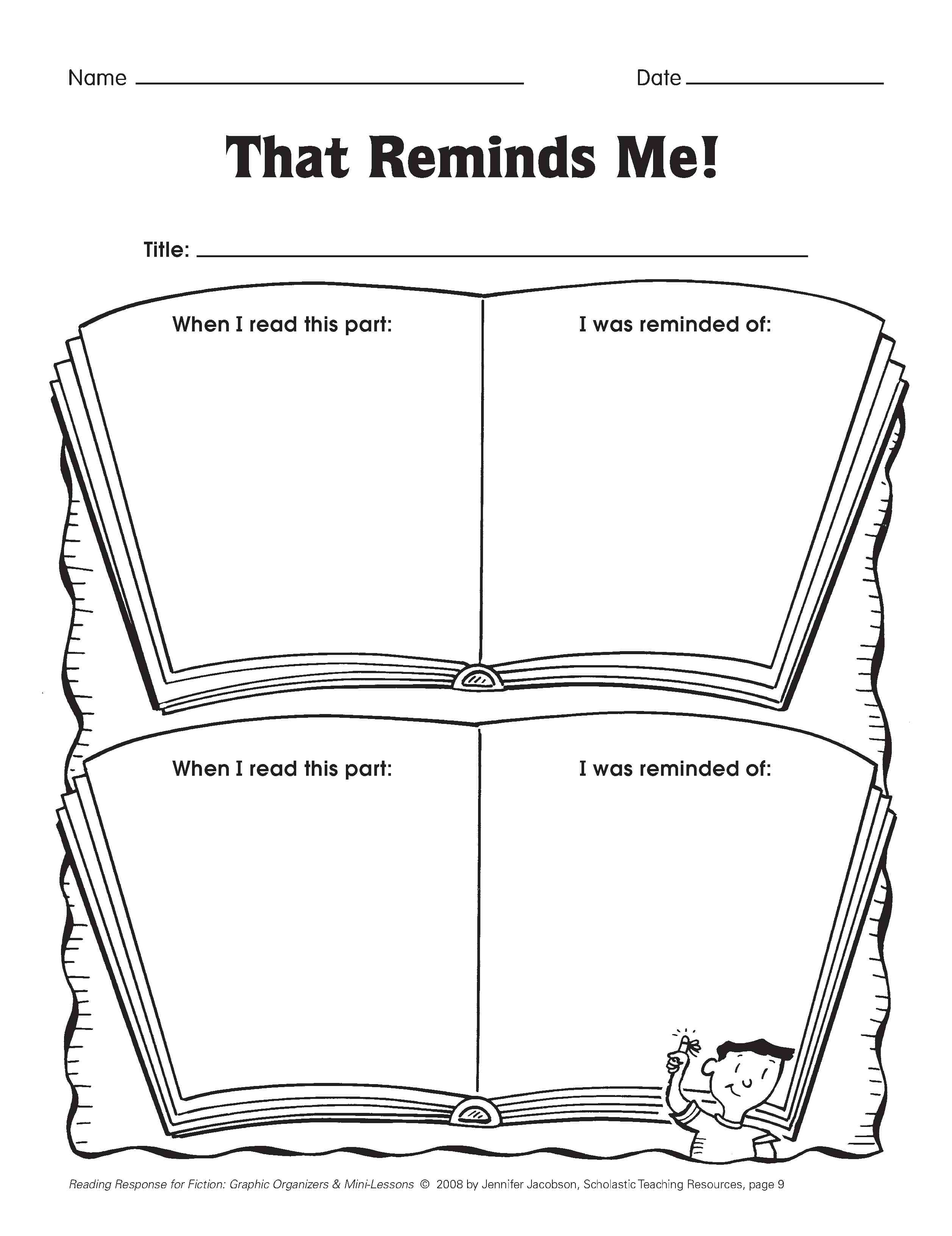 17 Best Images Of Reading Response Worksheets 4th Grade