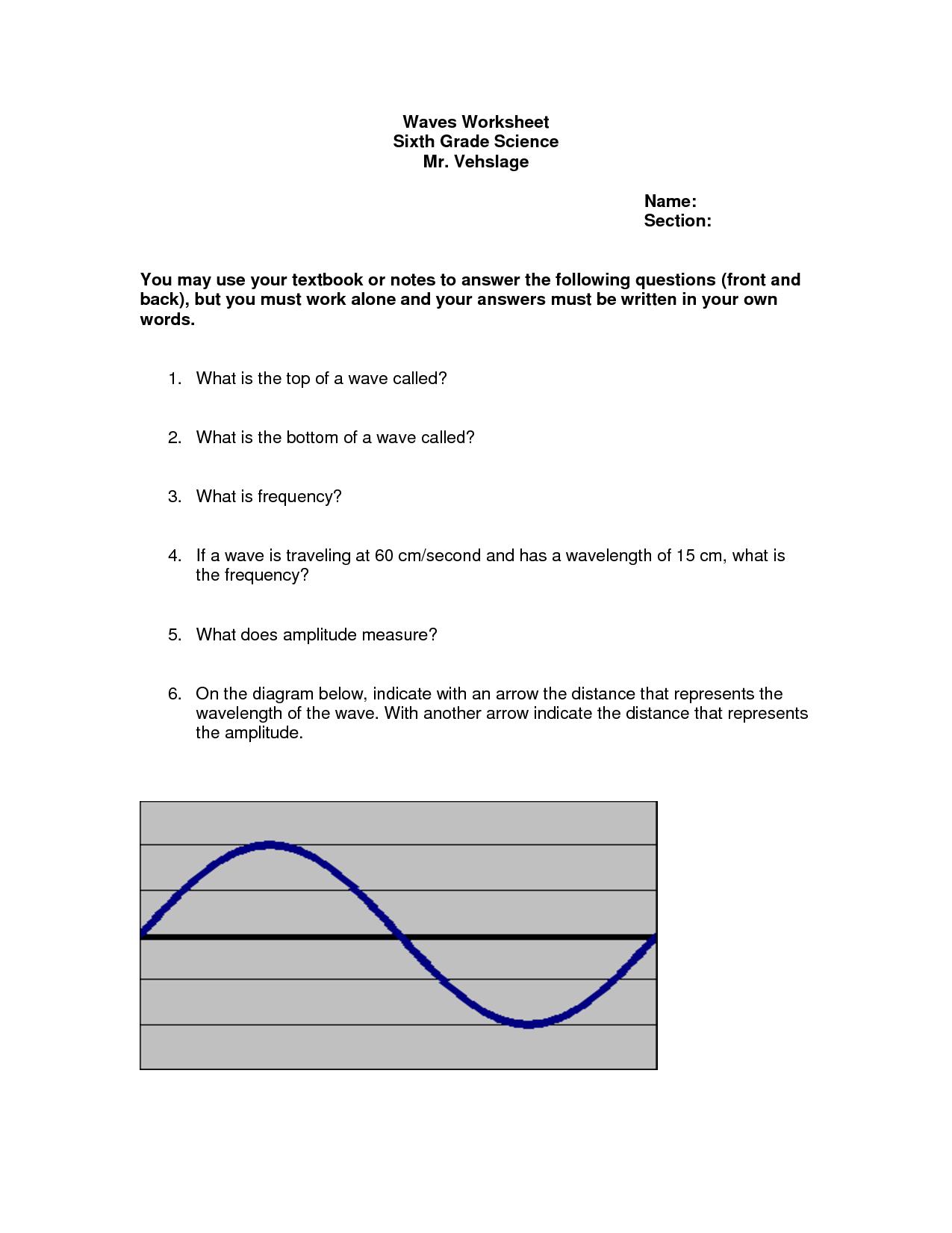 14 Best Images Of Sound Wave Worksheet 4th Grade