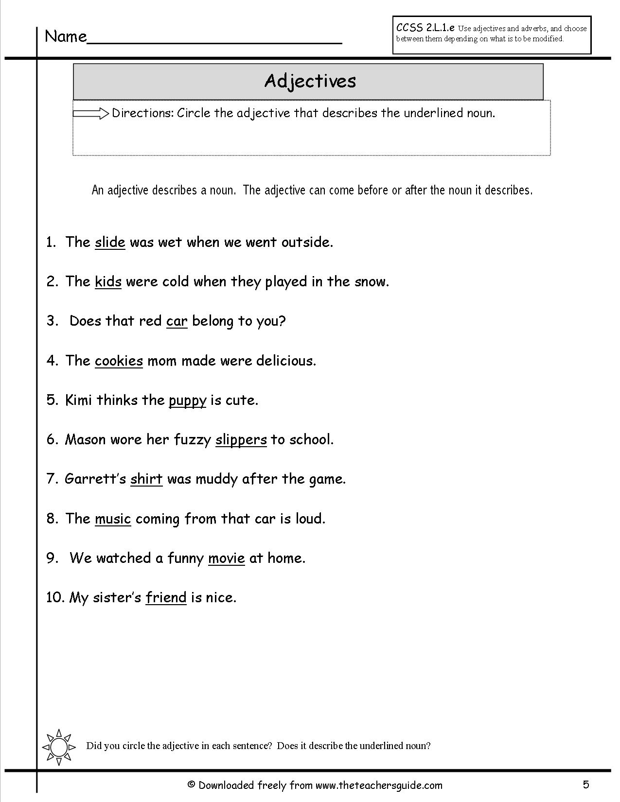 Fables Worksheet 2nd Grade