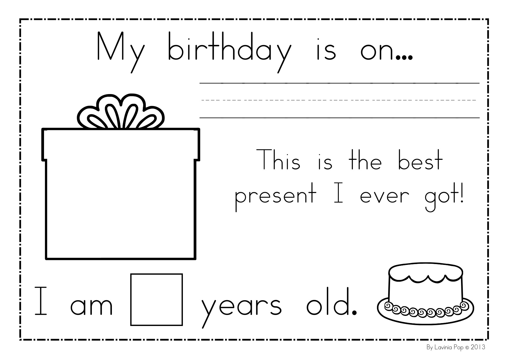 14 Best Images Of Birthday Worksheets For Kindergarten
