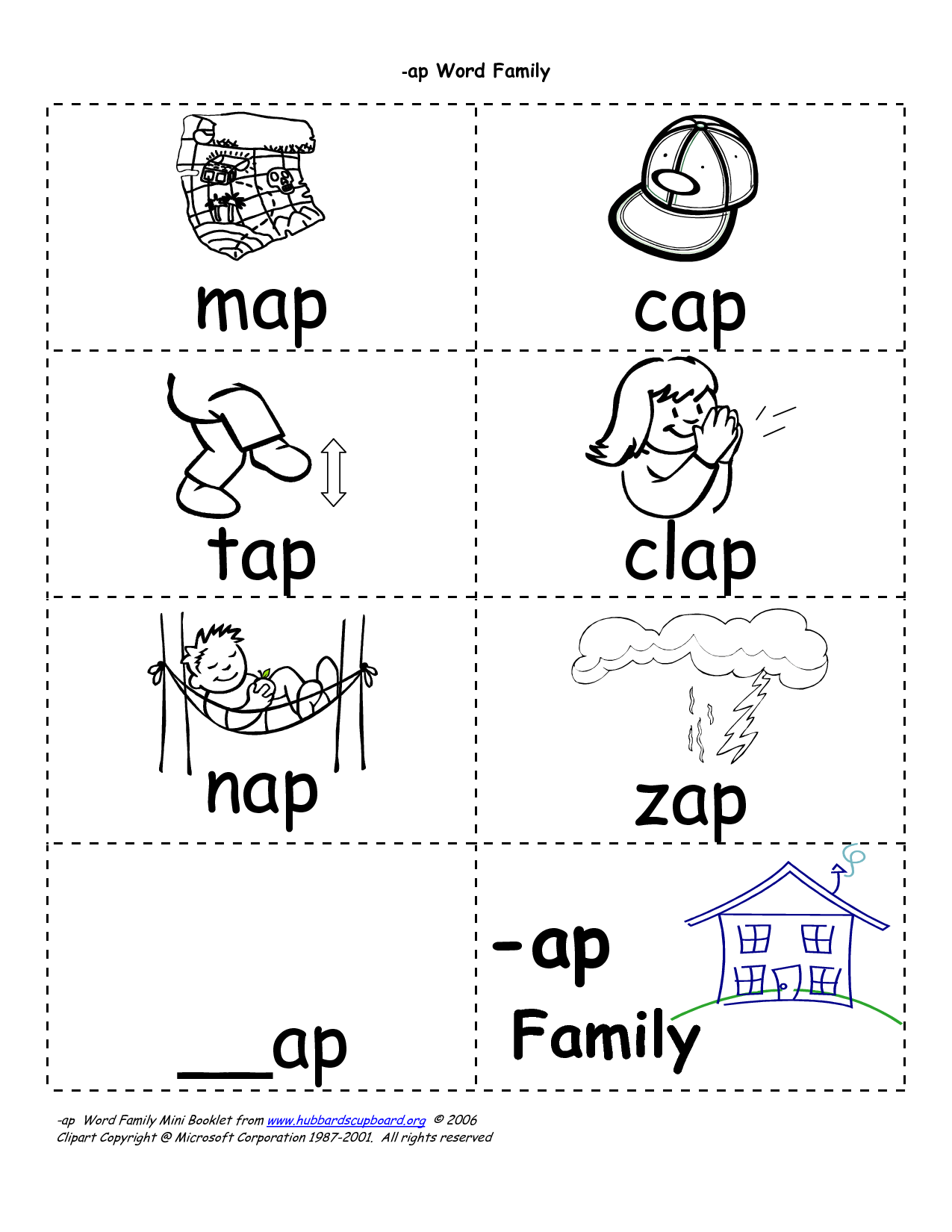 Ot Word Family Og Worksheet
