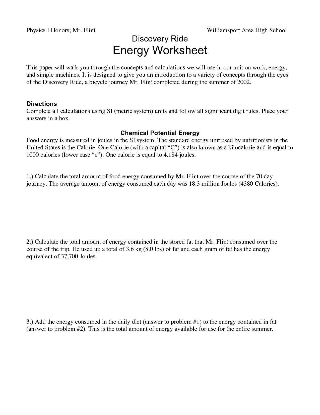 14 Best Images Of Different Types Of Energy Worksheets