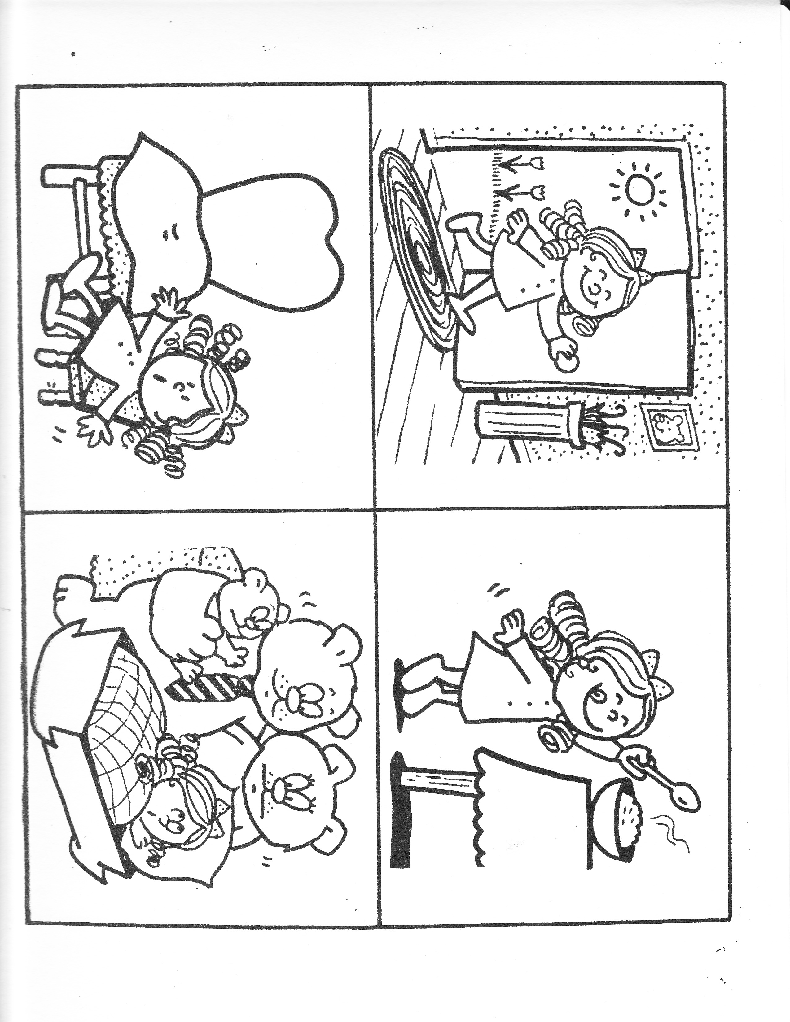 Coloring Pages Picture Story Sequence Cards Printable