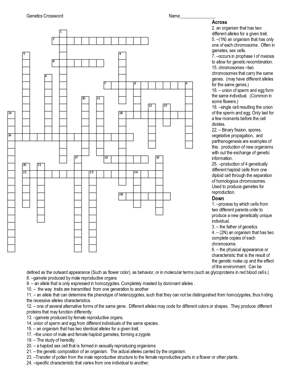 Word Worksheet Category Page 1