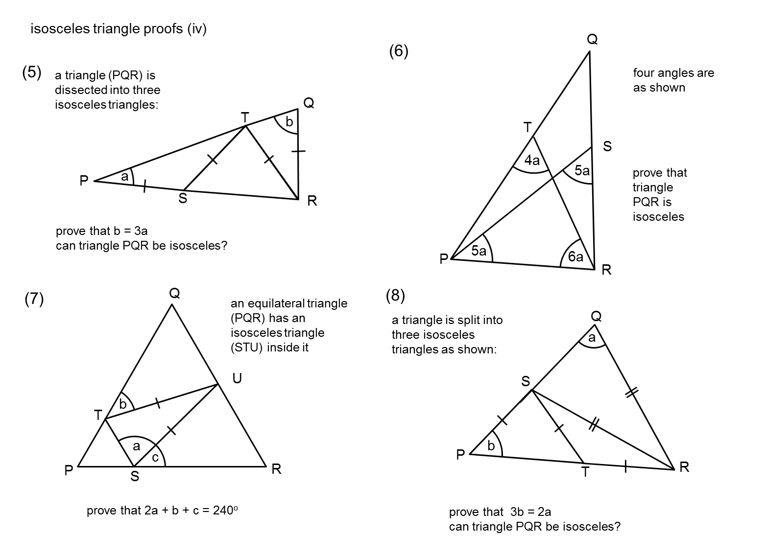 Geometry Angles And Triangles Worksheet