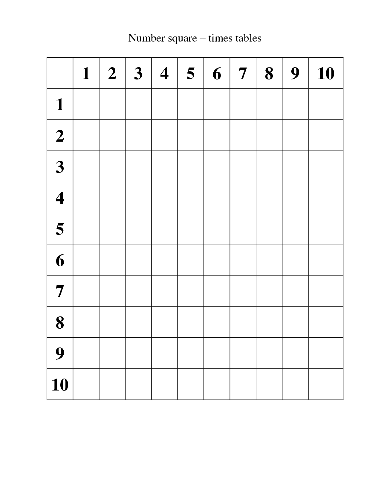 14 Best Images Of 9 Times Table Worksheet