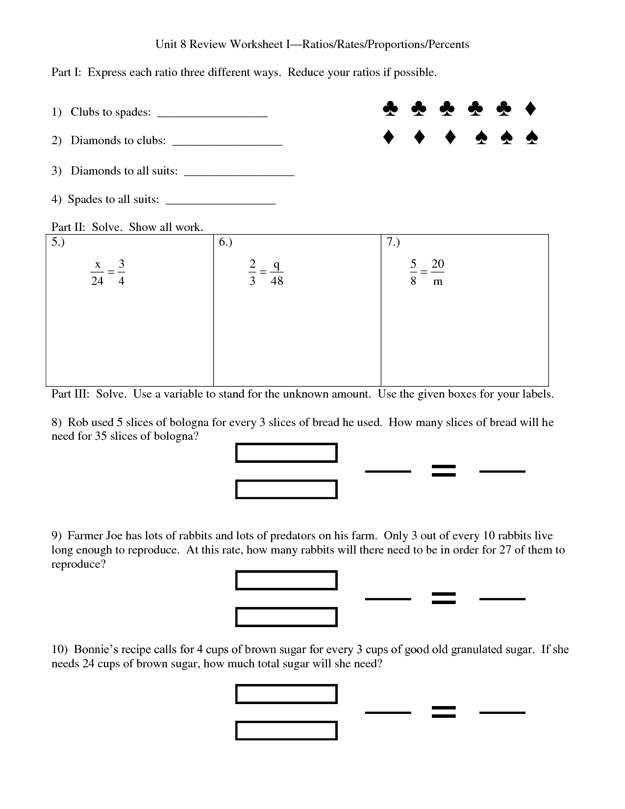 Unit Rate Christmas Worksheet