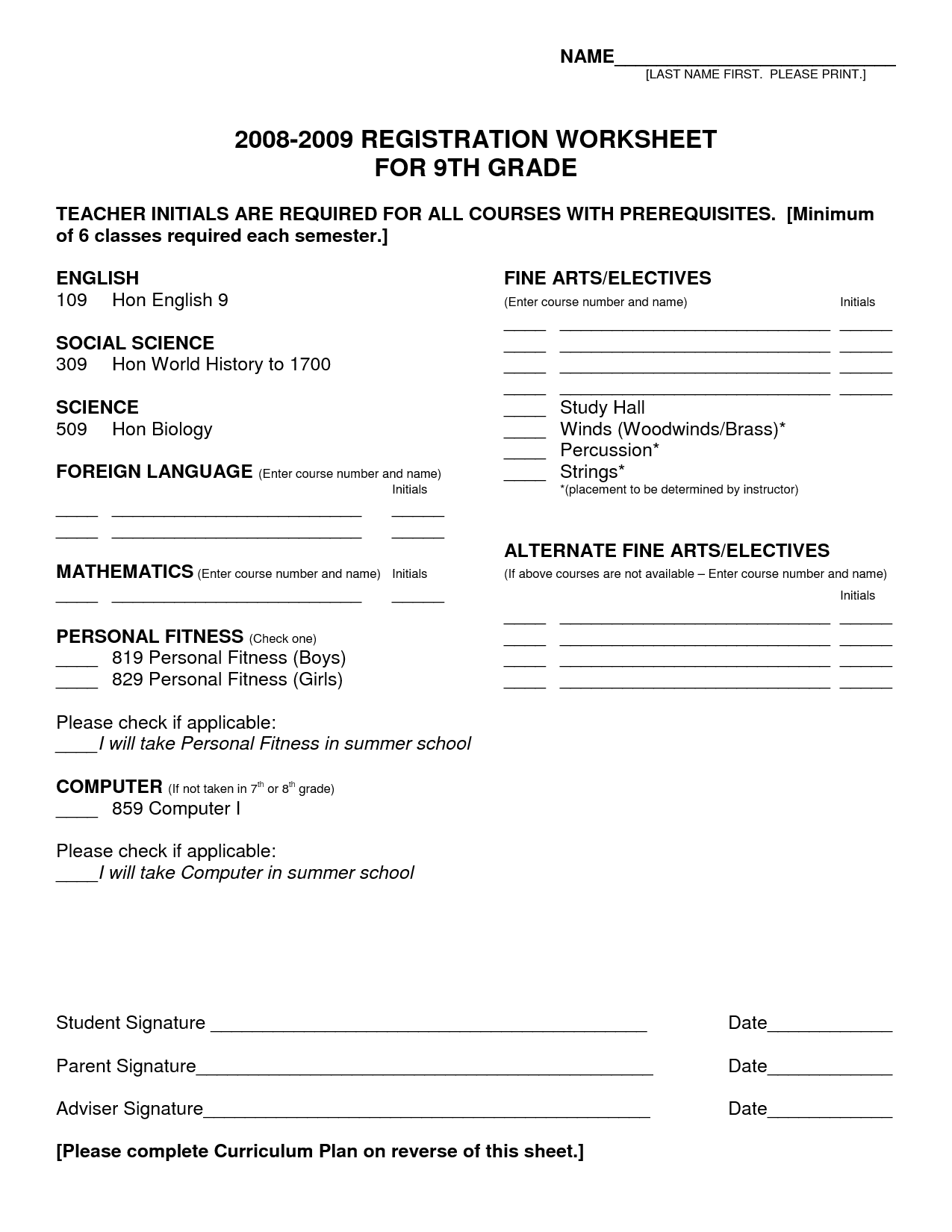 10th Grade Worksheet Category Page 3