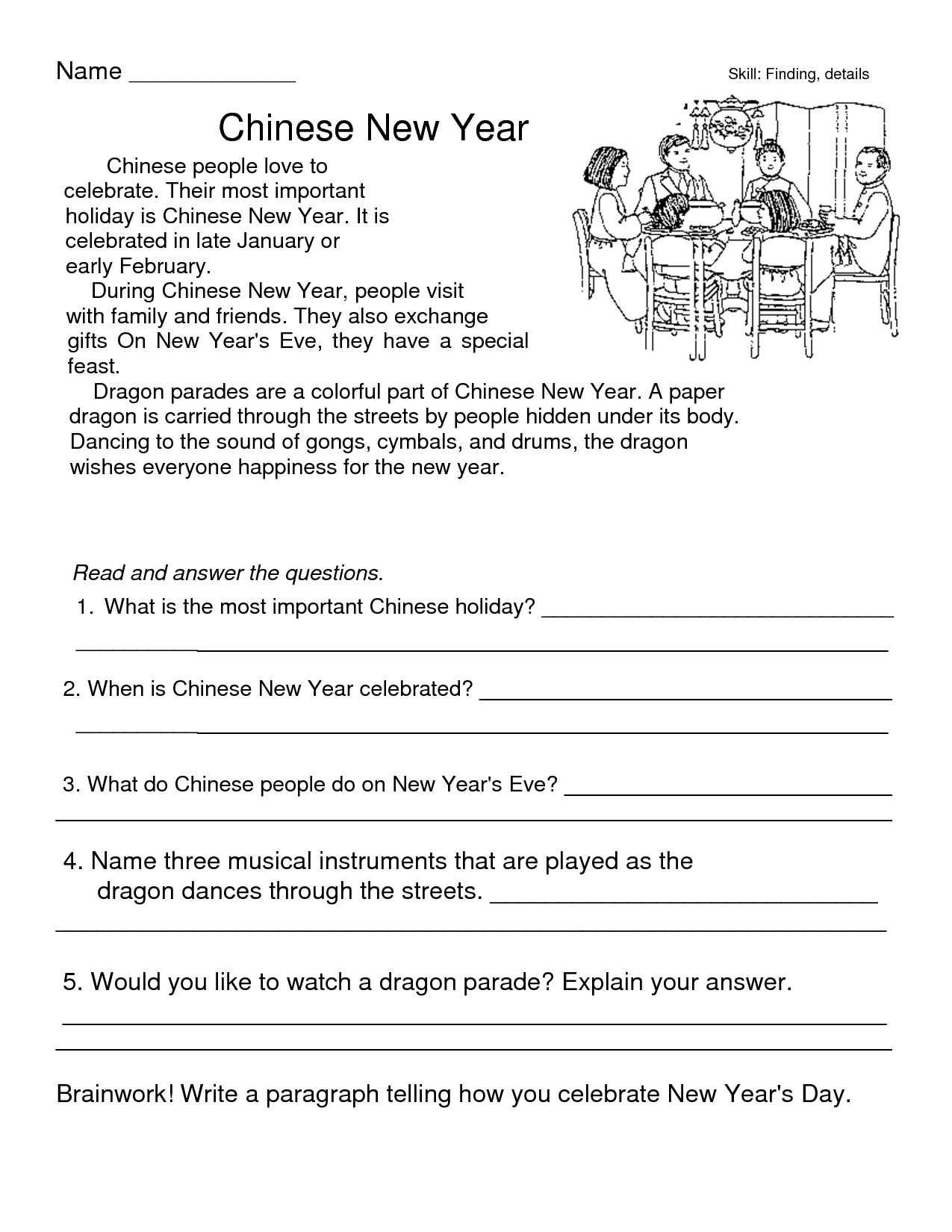 13 Best Images Of Worksheets New Year S