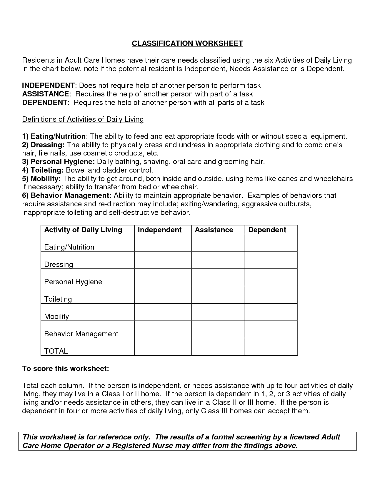 11 Best Images Of Scientific Classification Worksheet