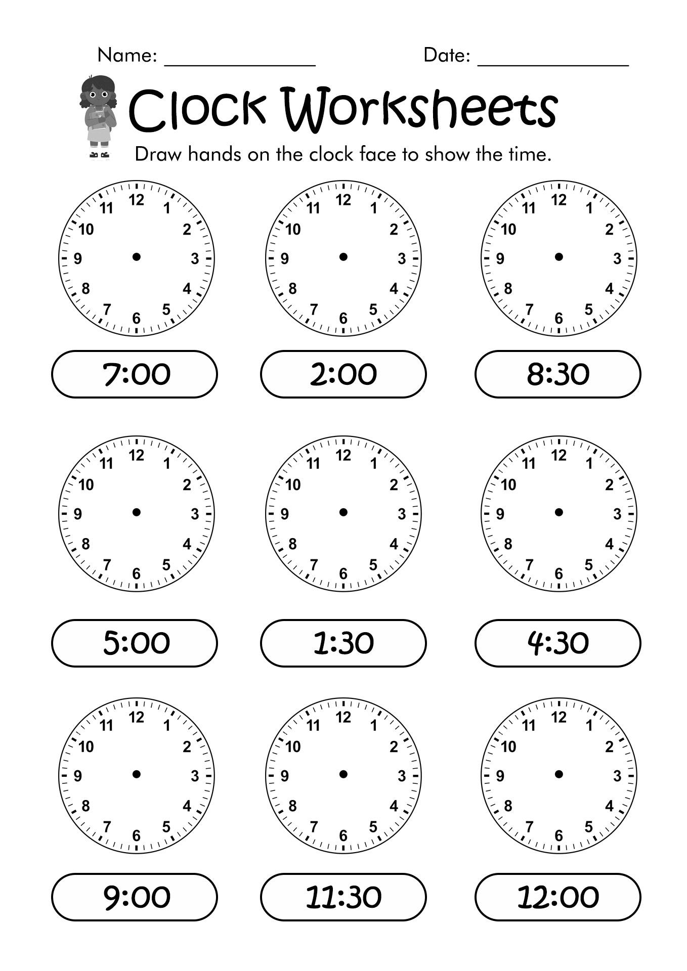 Black Clock Worksheet