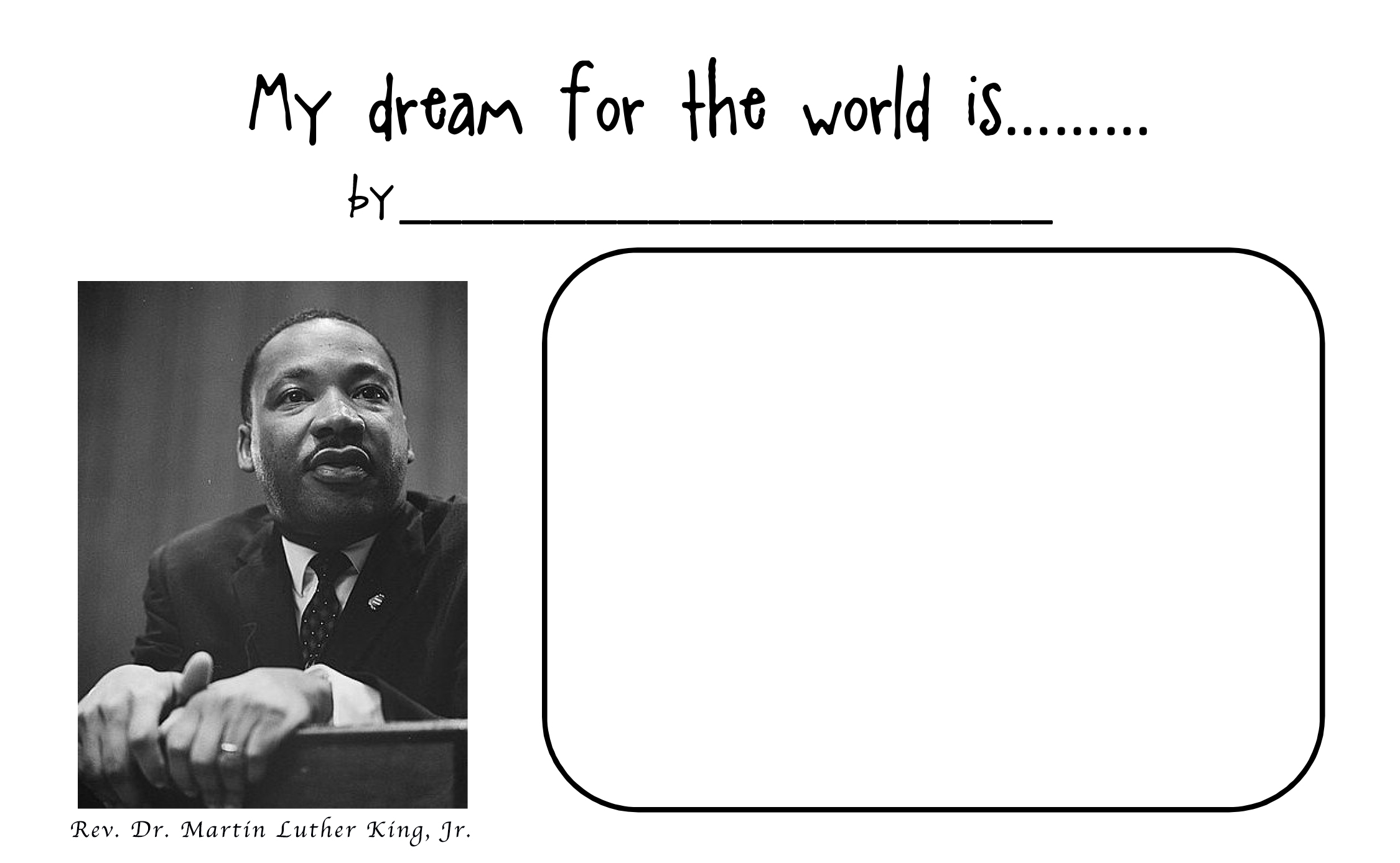 10 Best Images Of Martin Luther King Activities Worksheets
