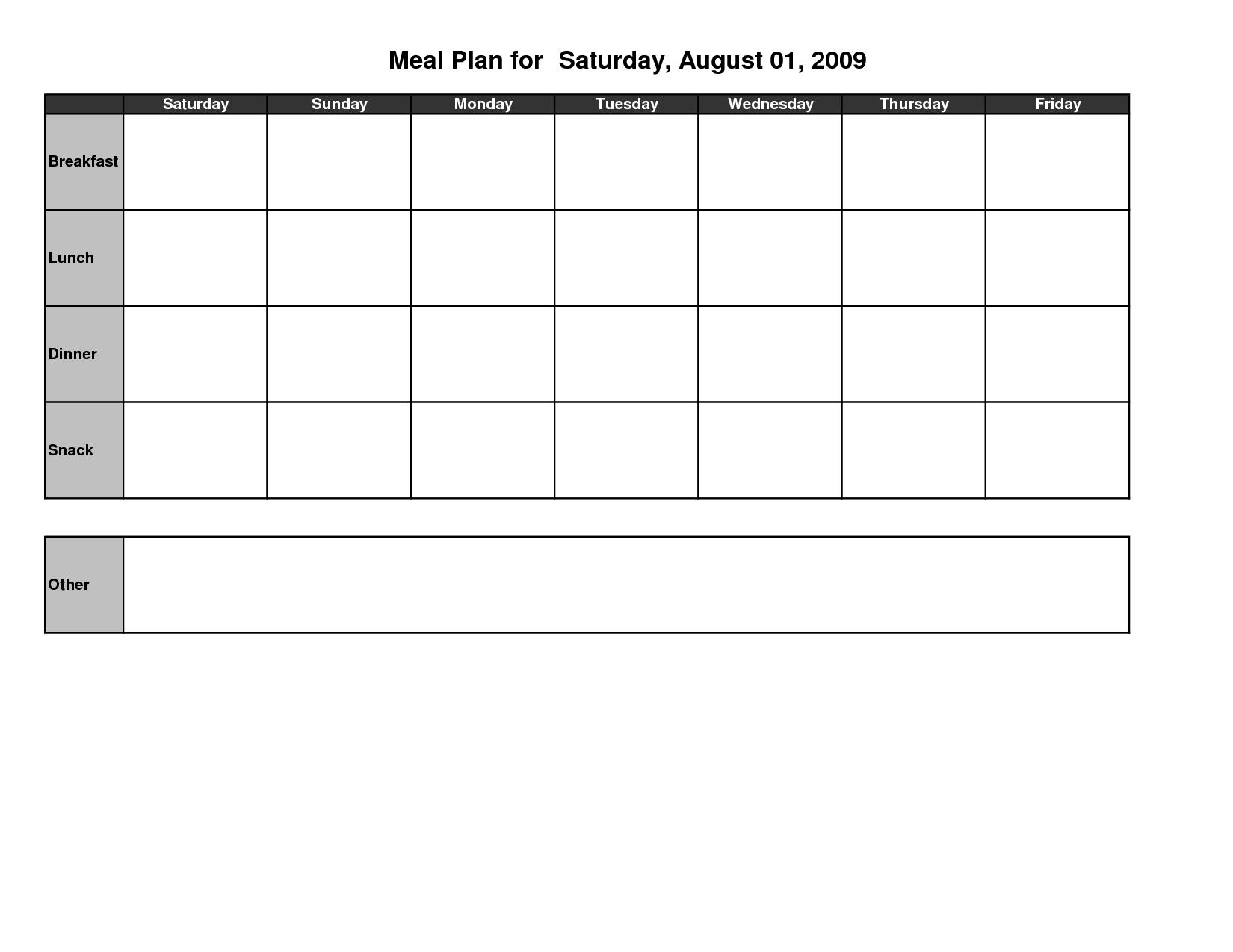 17 Best Images Of Meal Plan Worksheet Template