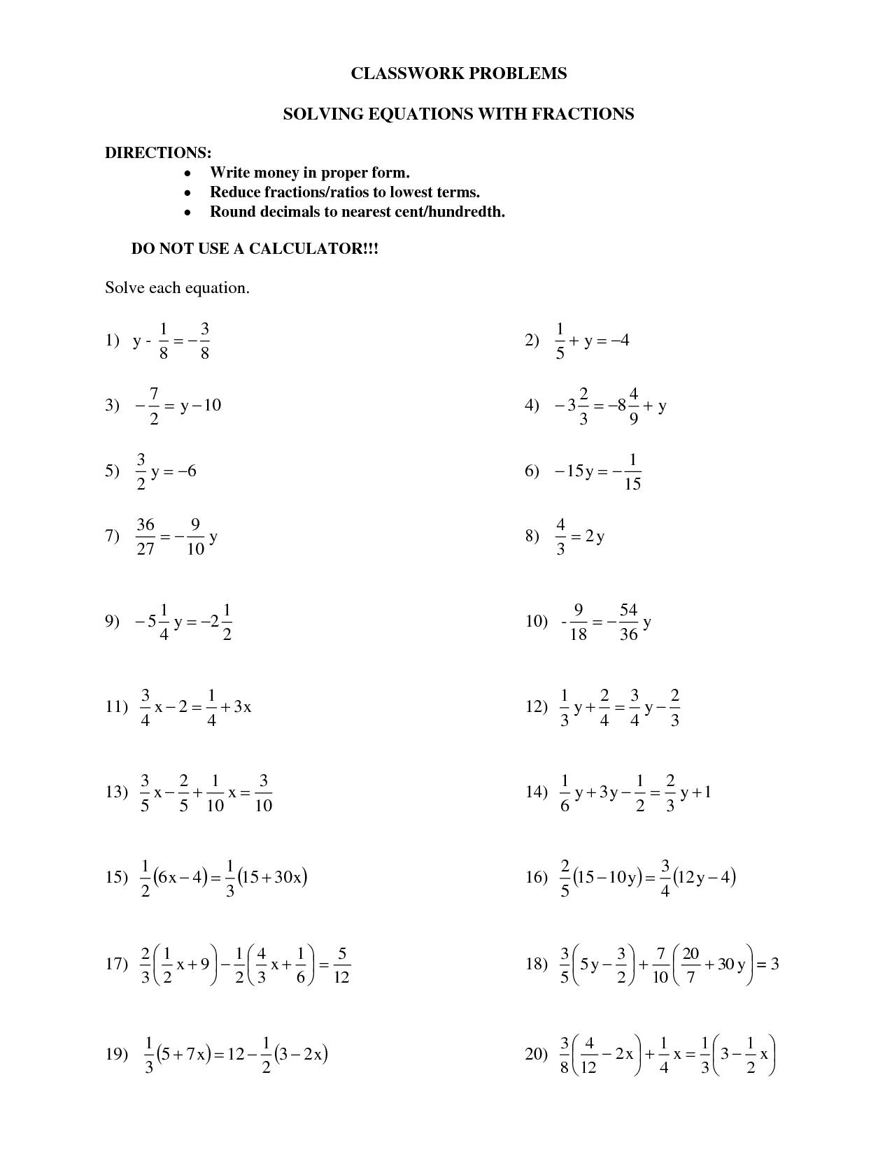 One Step Linear Inequalities Worksheet
