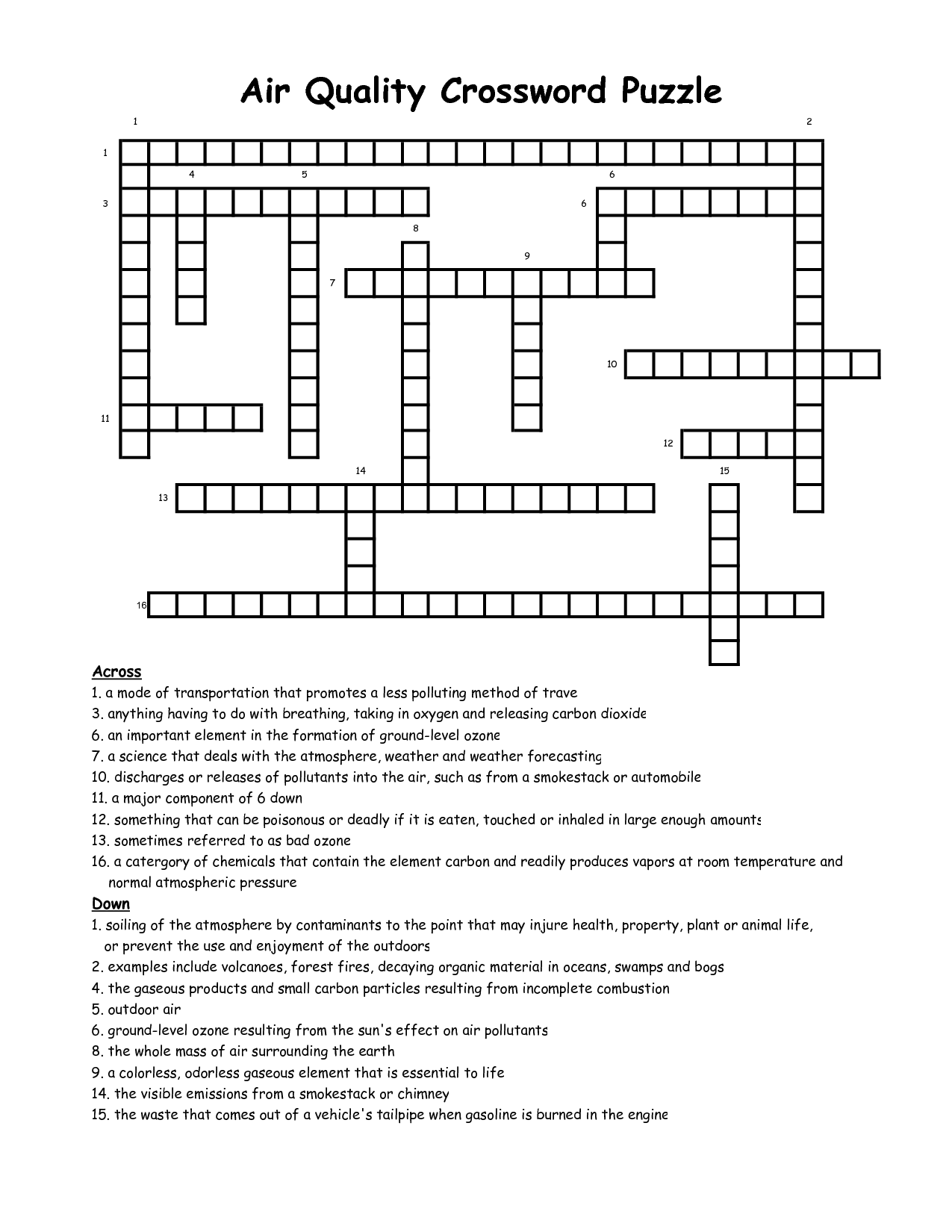 10 Best Images Of The Great Depression Crossword Worksheet