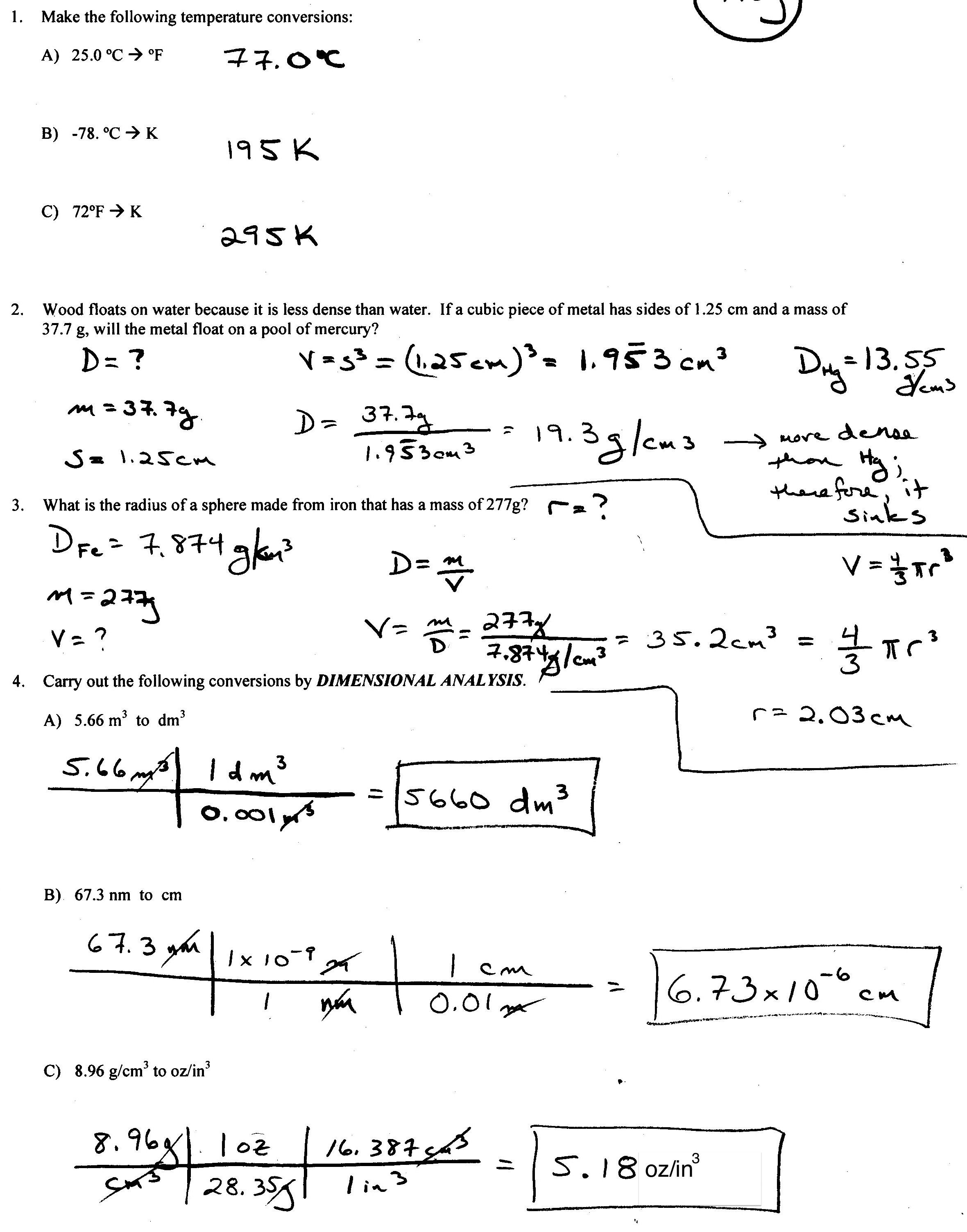 16 Best Images Of Mass And Moles Worksheet Answer Key