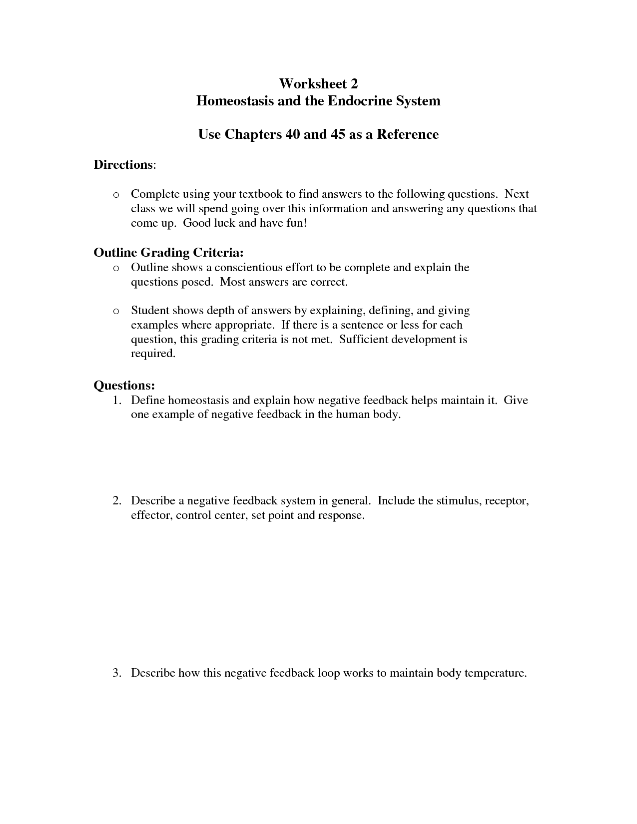 11 Best Images Of Endocrine Emergency Worksheets Docstoc