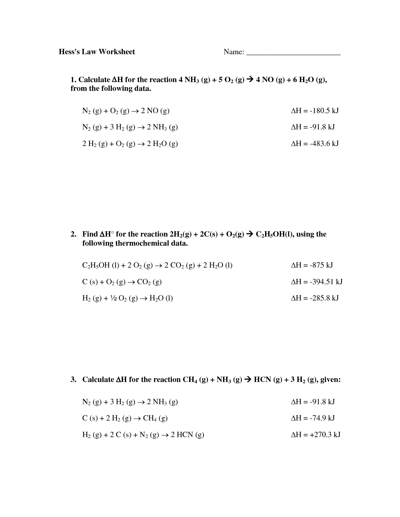 11 Best Images Of Ohms Law Worksheet Answers