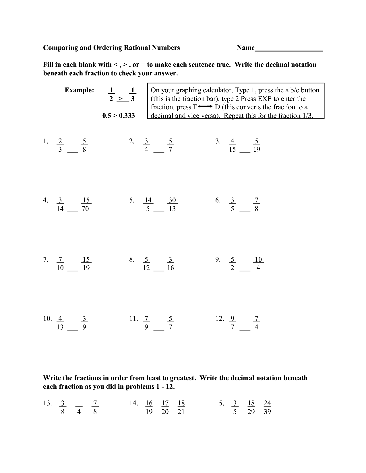 Worksheet For 5th Grade With Answer Key