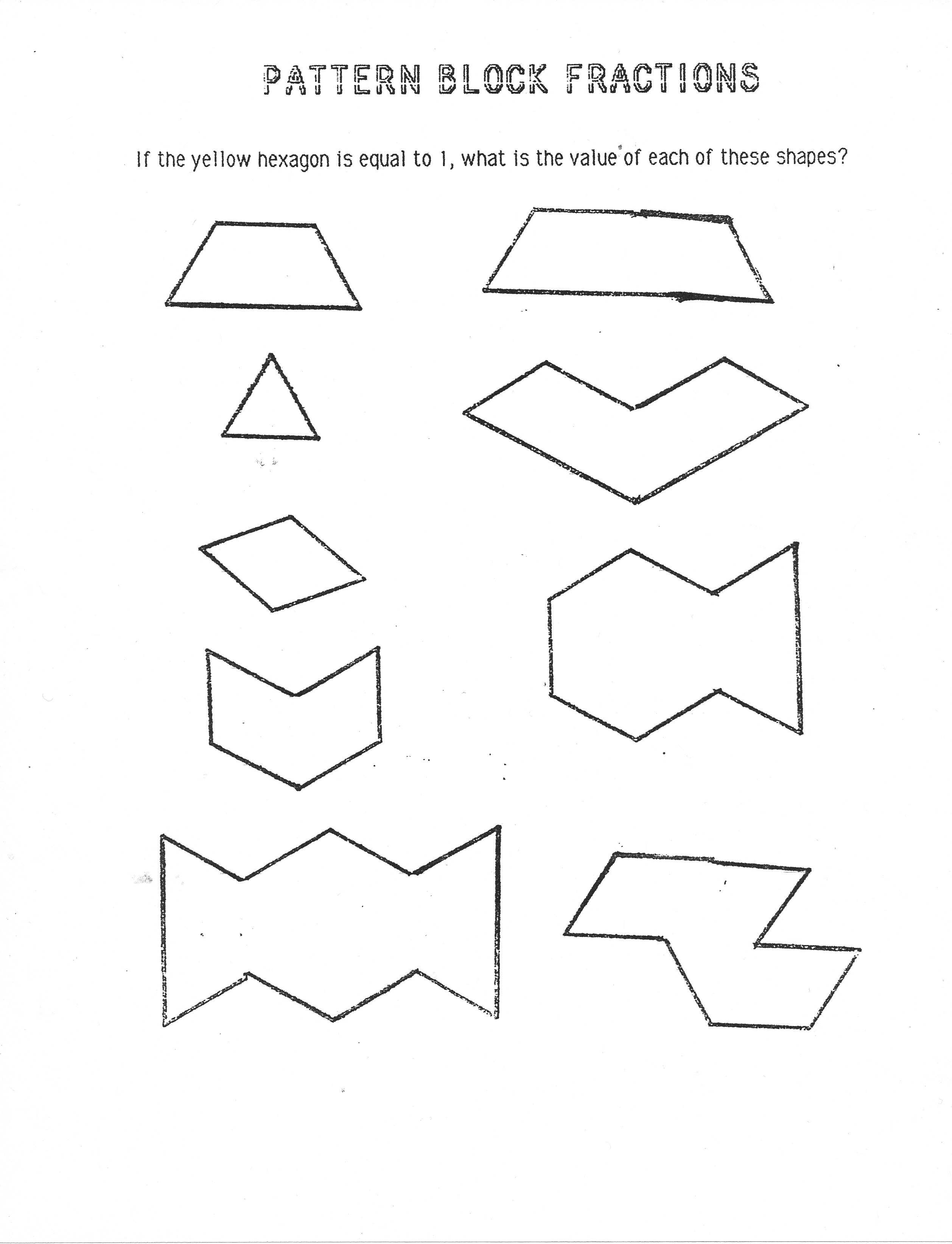 6 Best Images Of Pattern Blocks Worksheet 2nd Grade
