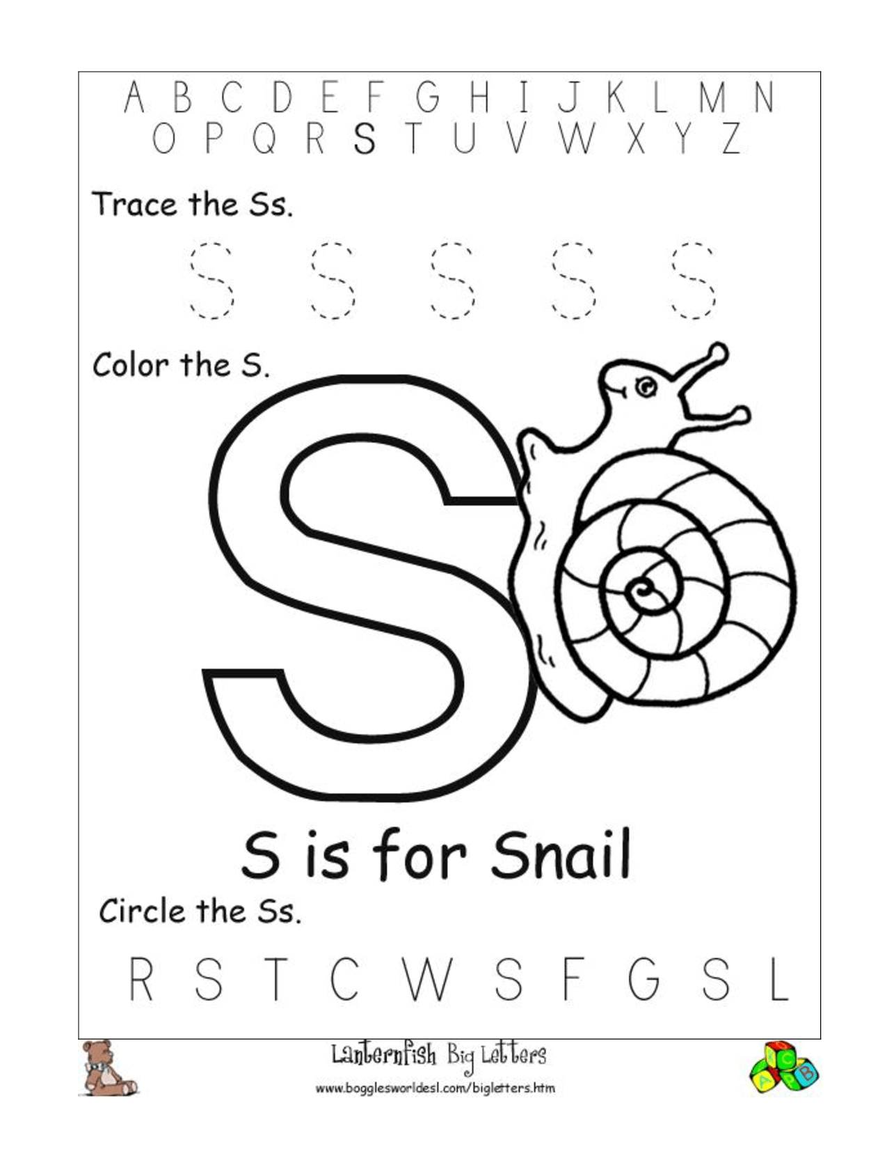 18 Best Images Of Alphabet Phonics Worksheets For Kindergarten