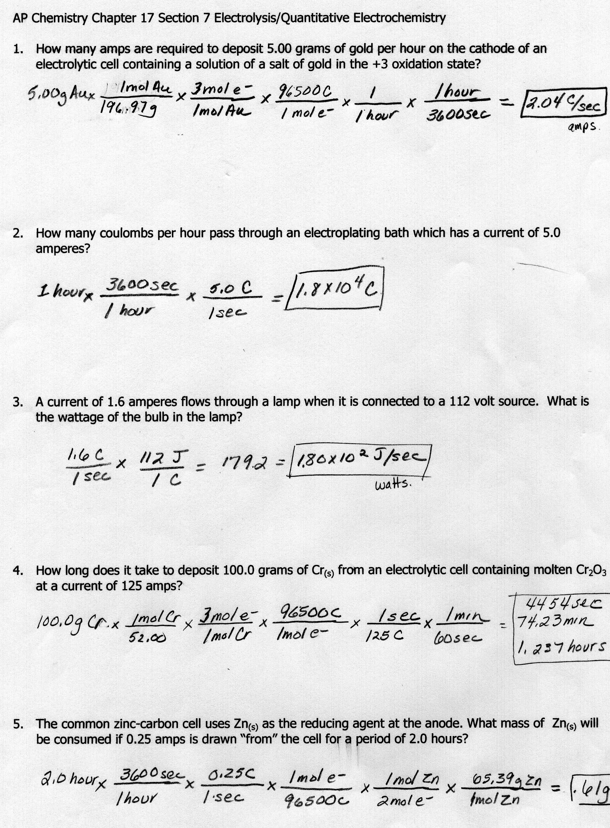 5 Best Images Of Thermodynamics Worksheet Answer Key