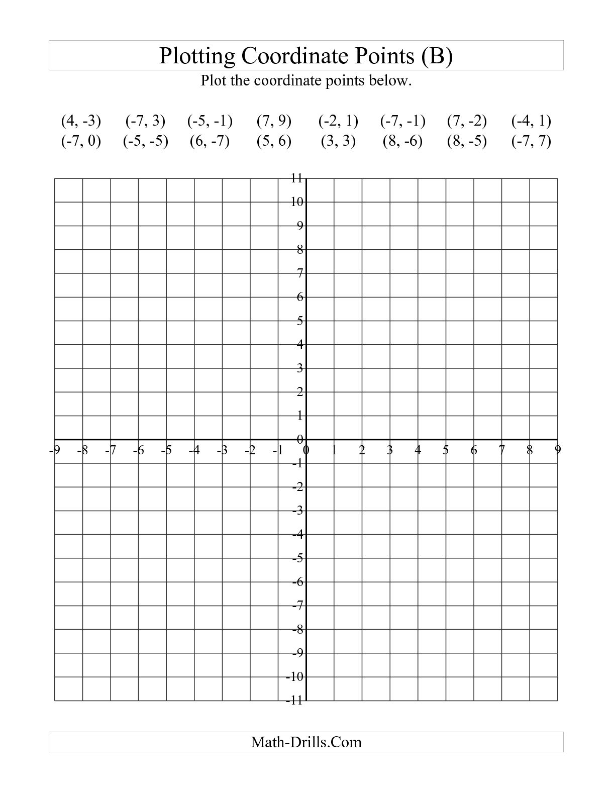 6th Grade Coordinate Grid Activities