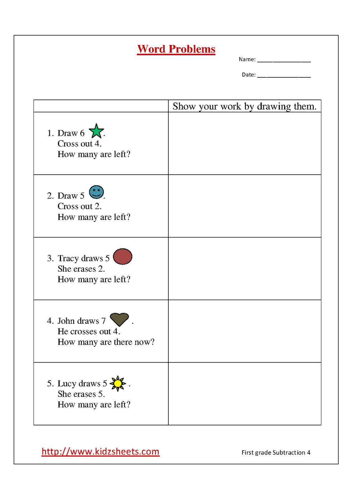 7 Best Images Of Create Your Own Subtraction Worksheet
