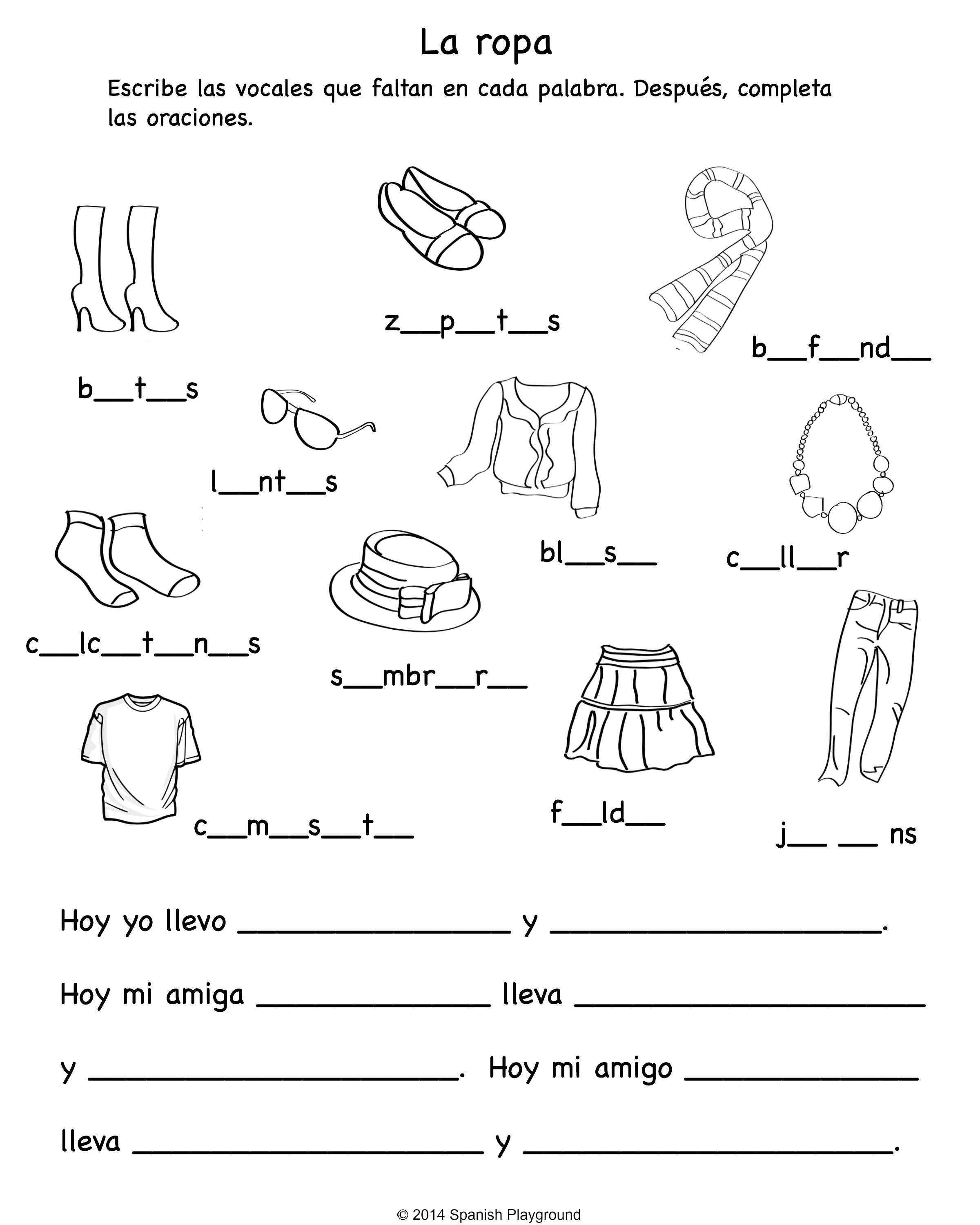 Worksheet Related To Clothes