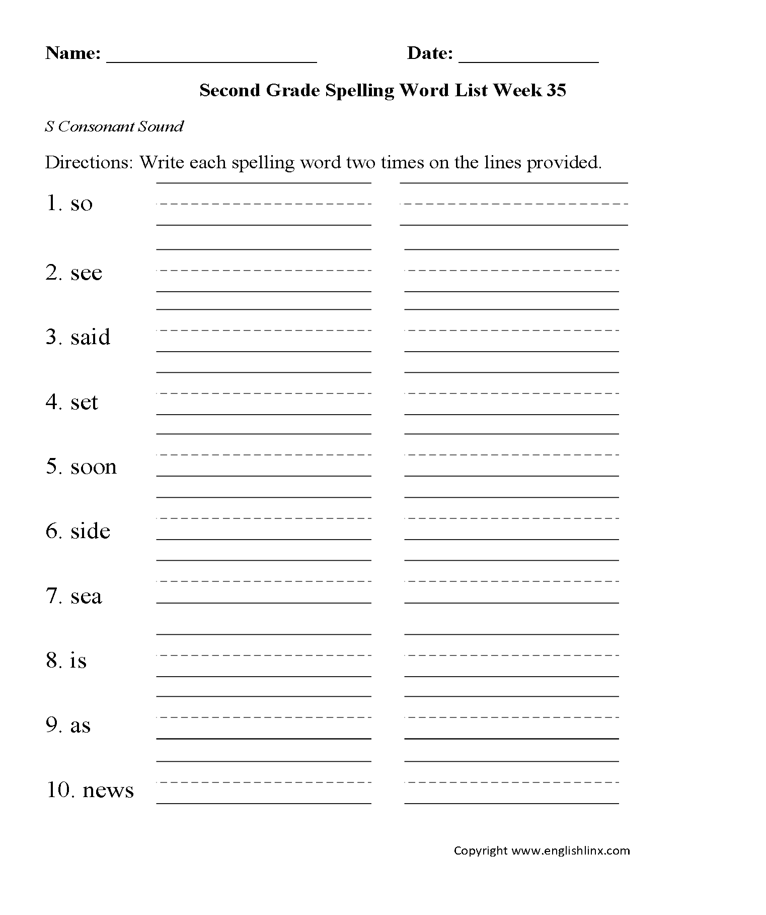 16 Best Images Of Subject Worksheets Second Grade