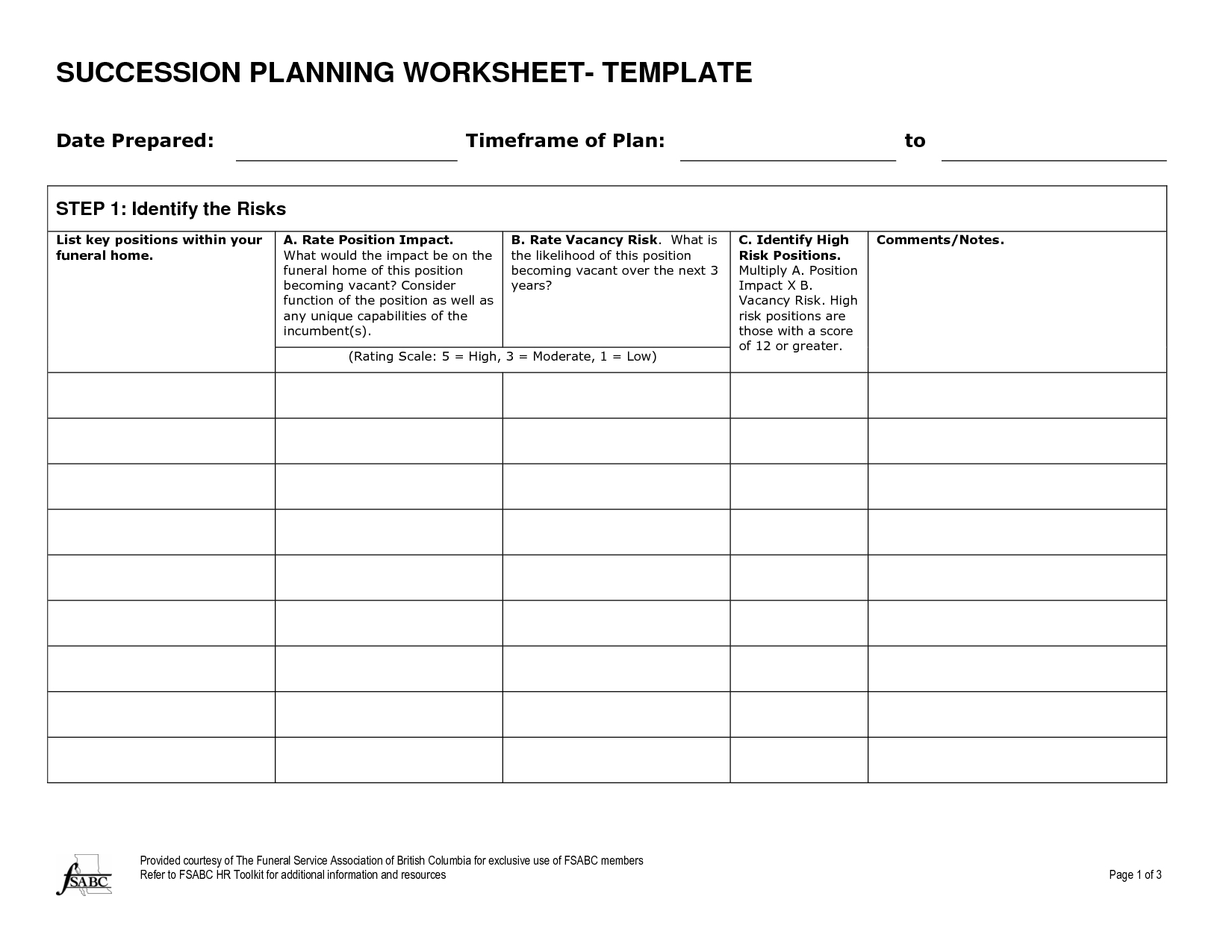 Funeral Planning Worksheet
