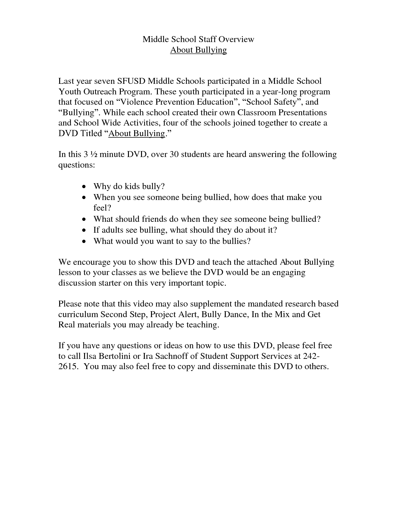 Bullying Worksheet High School