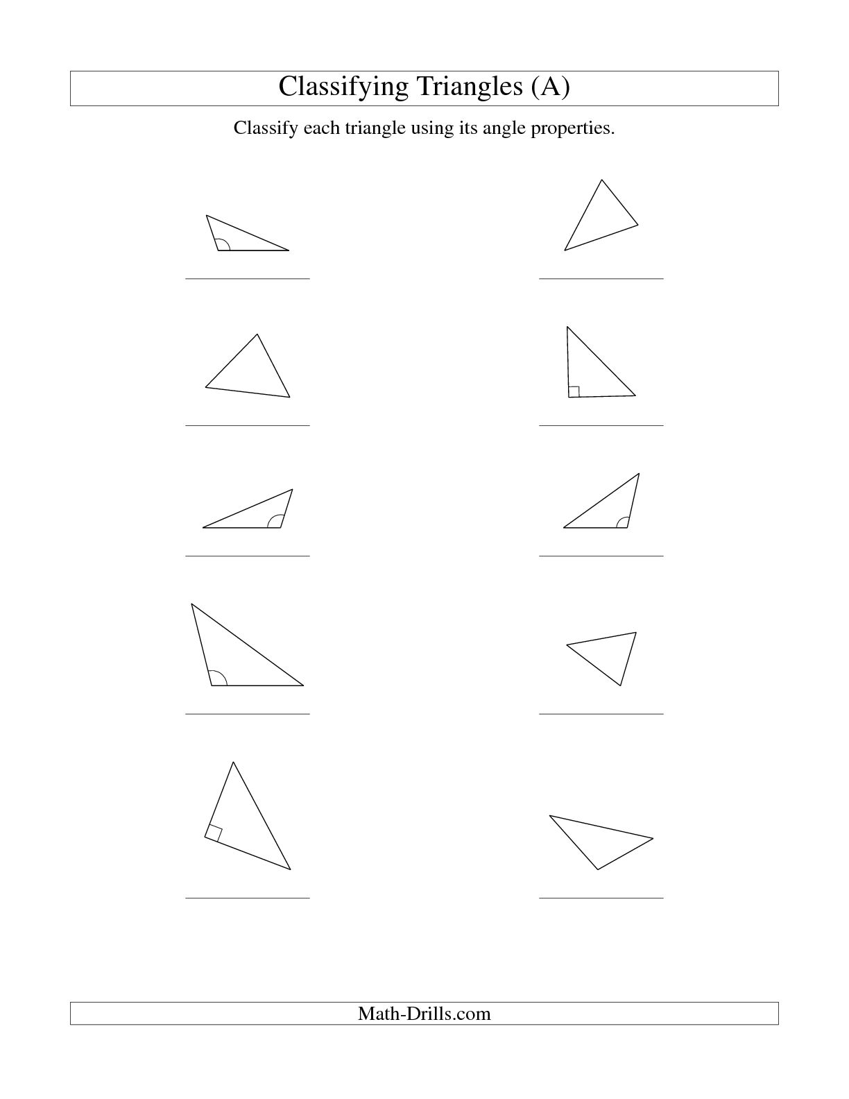 17 Best Images Of Properties Of Triangles Worksheet
