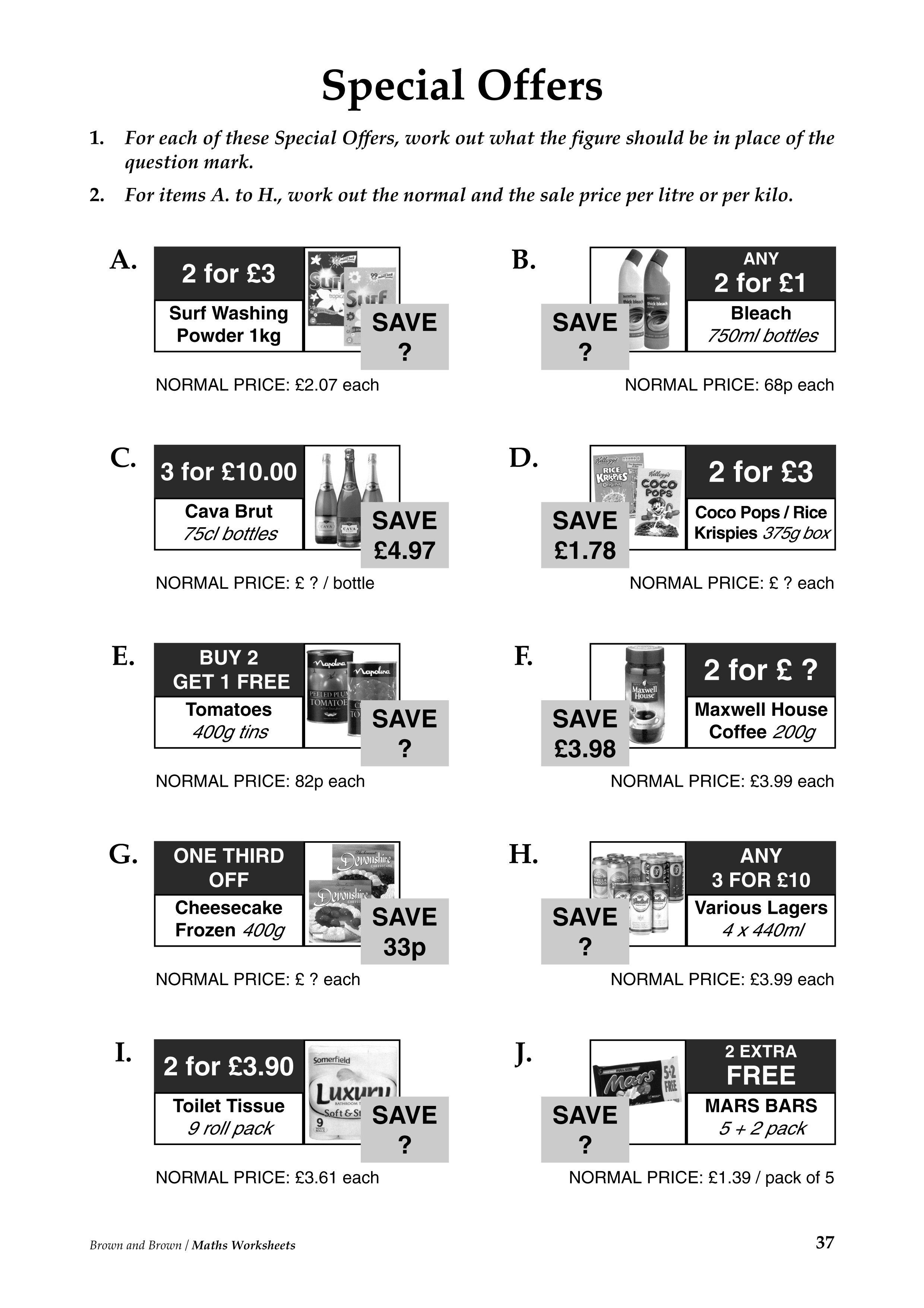 12 Best Images Of Shopping Math Worksheets