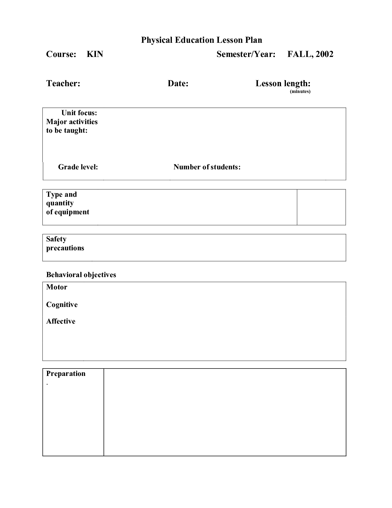 12 Best Images Of Physical Ed Worksheets