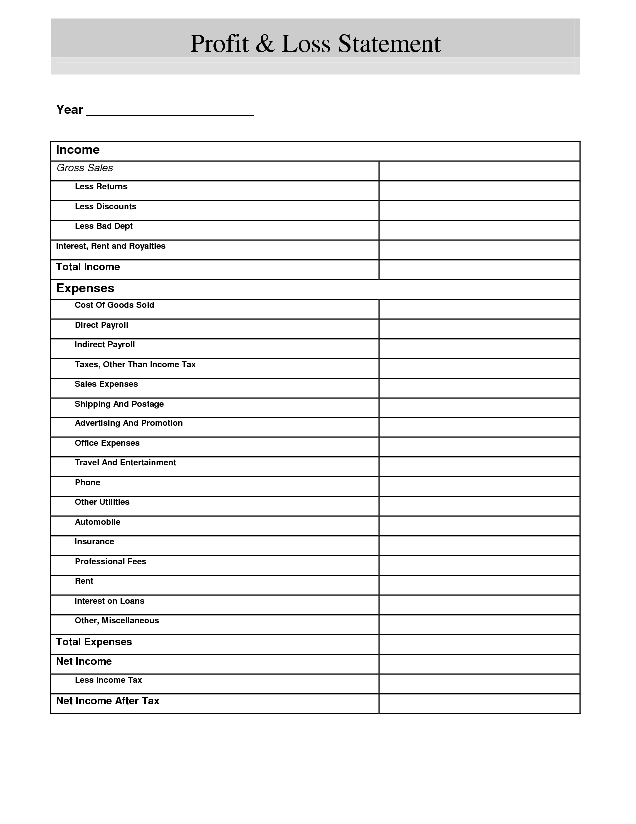 10 Best Images Of Small Business Income Worksheet
