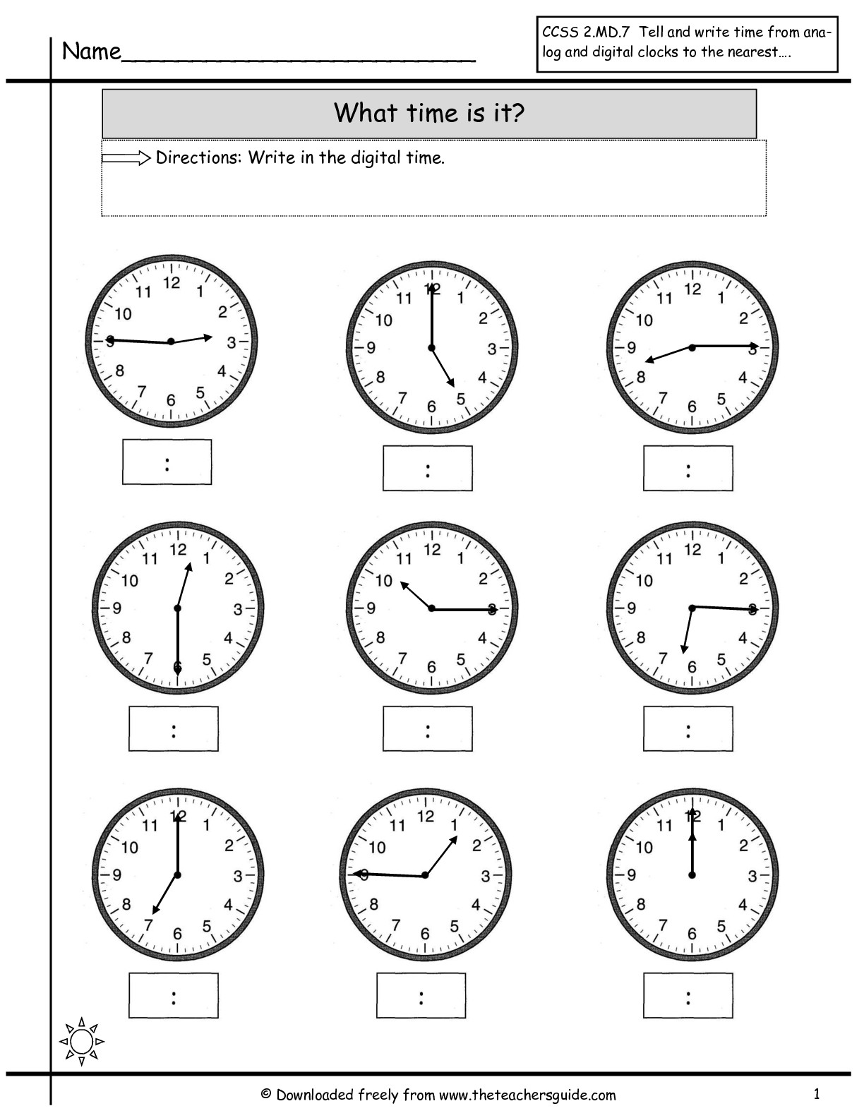 15 Best Images Of Telling Time Worksheets Half Past Quarter To