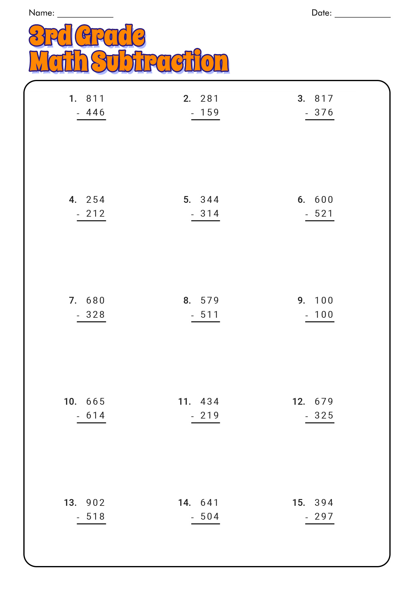 14 Best Images Of 3rd 4th Grade Math Worksheets