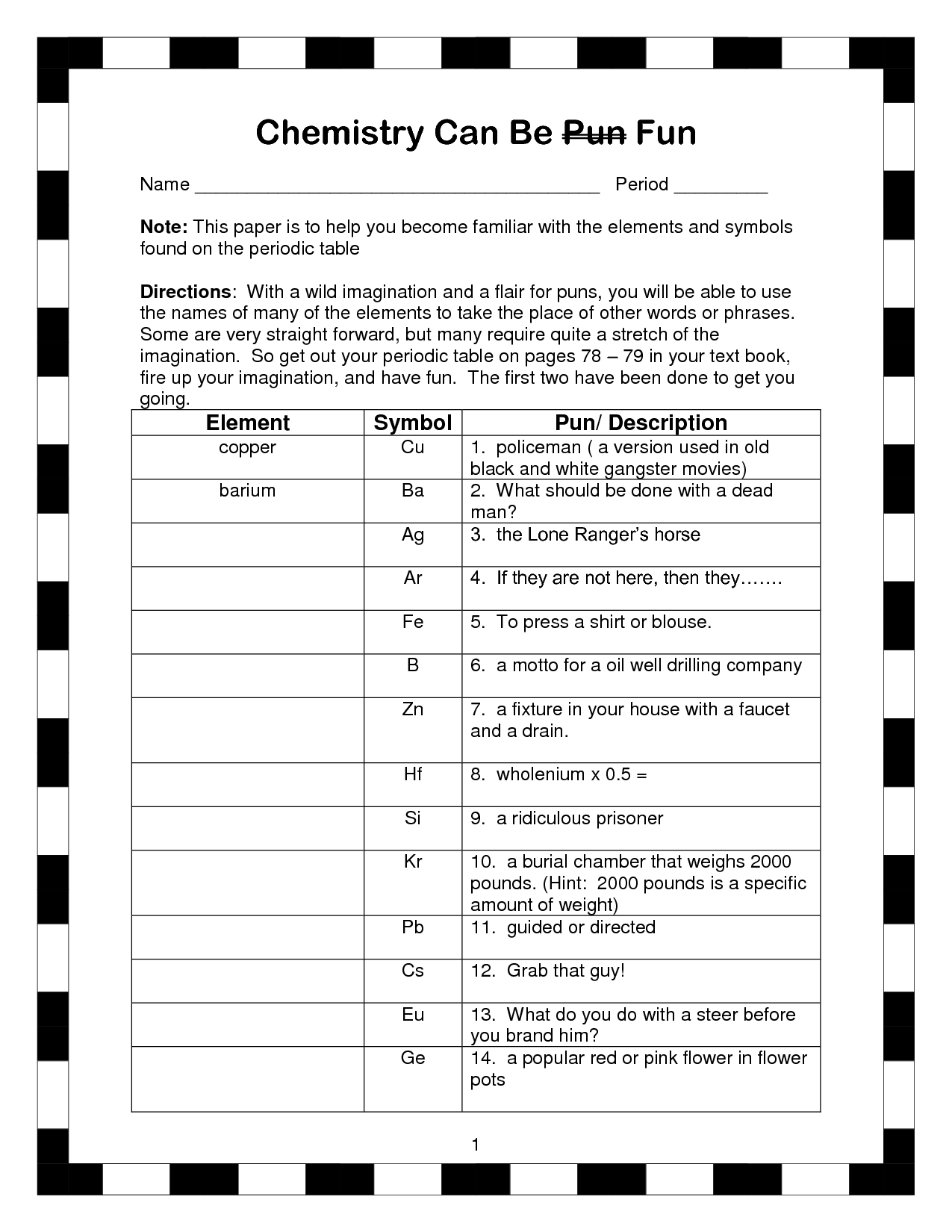 35 Elements And Their Symbols Worksheet Answers
