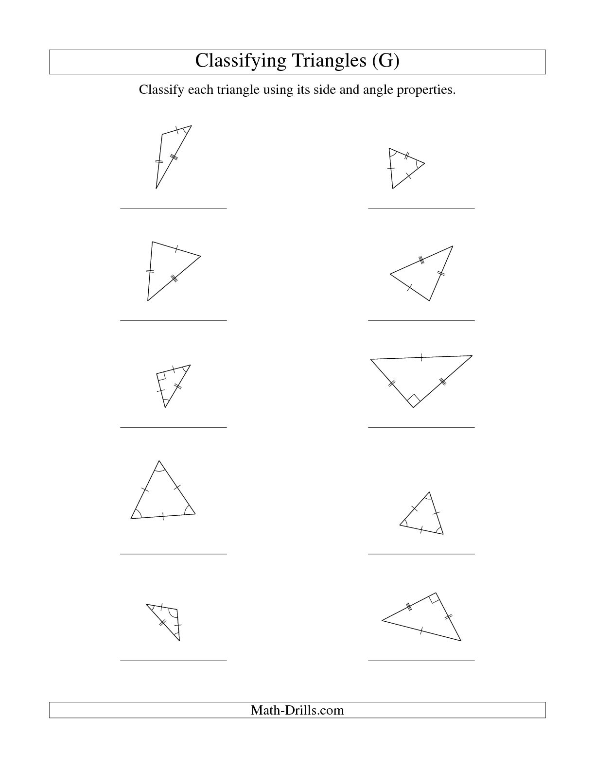 13 Best Images Of Angle Properties Worksheet