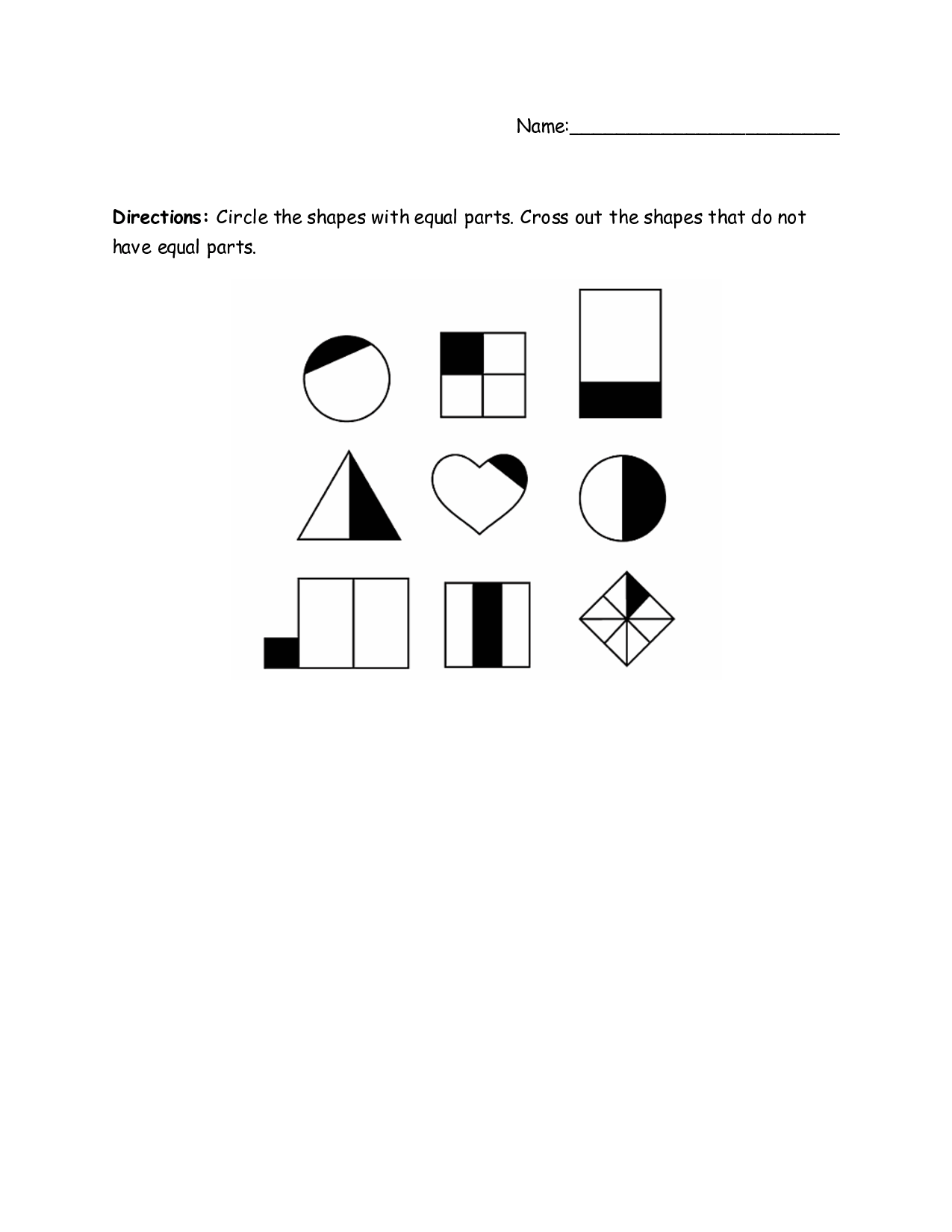 17 Best Images Of Equal And Not Equal Worksheet