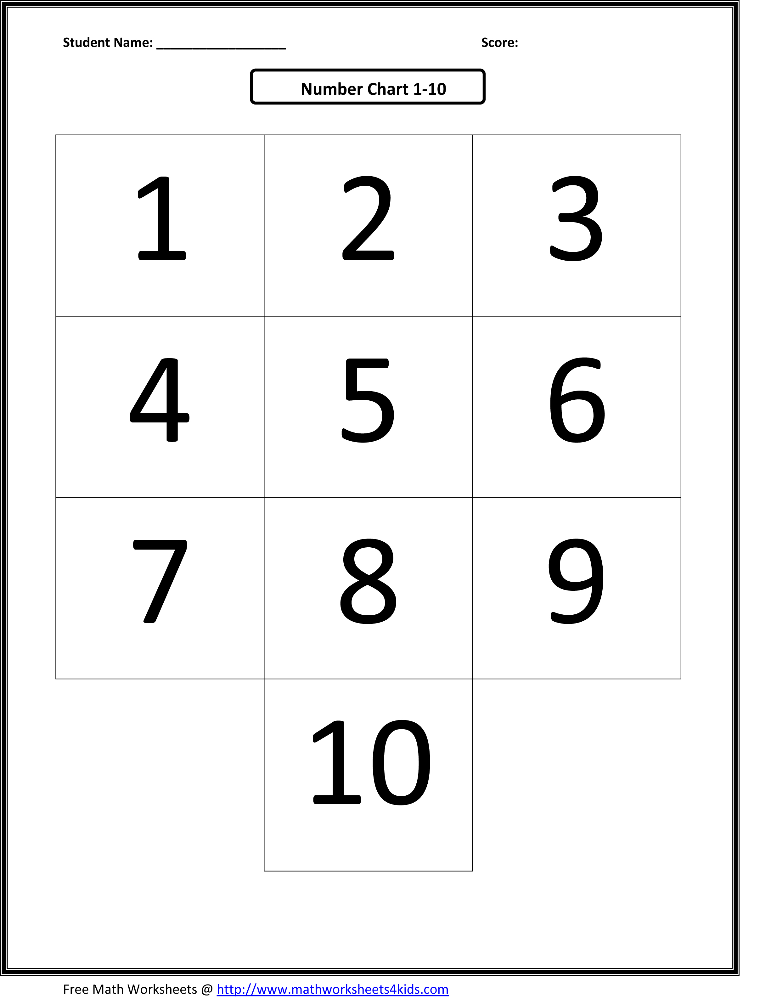 Counting Numbers 1 30 Worksheet