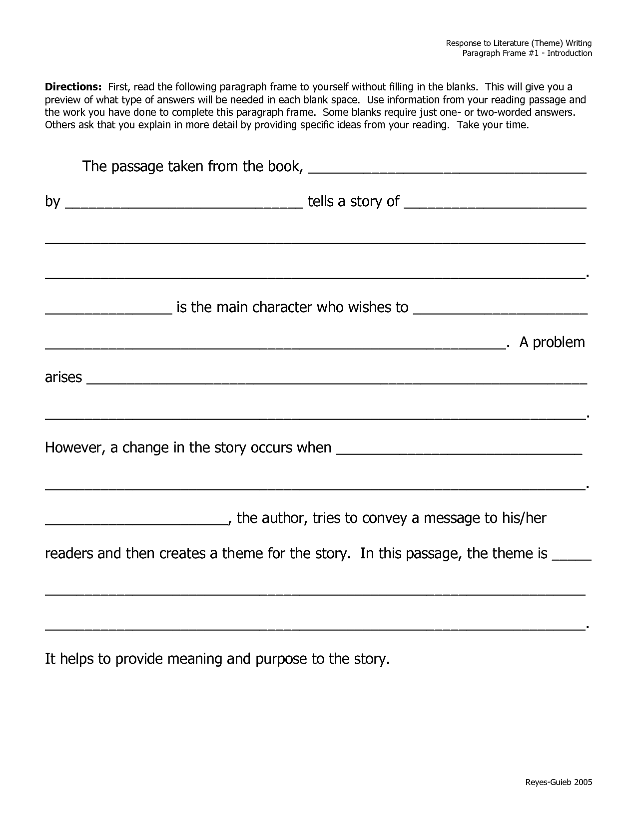15 Best Images Of Descriptive Paragraph Writing Worksheets