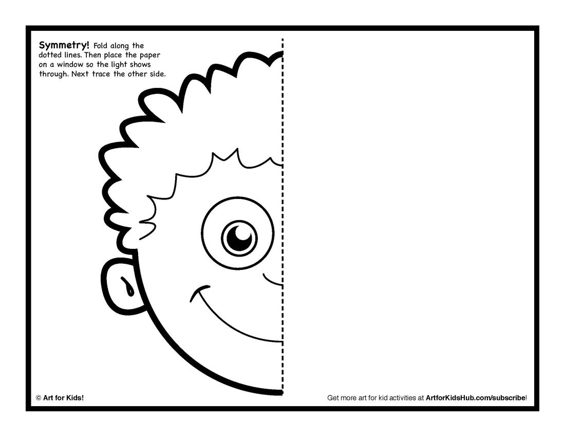 12 Best Images Of Half Face Art Worksheet