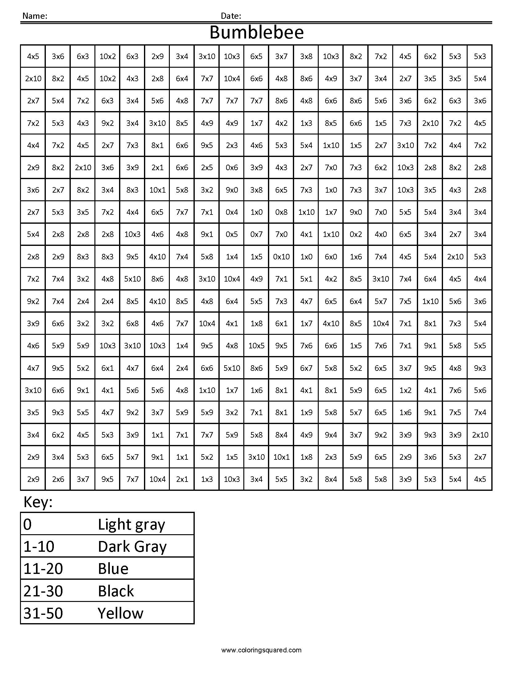 17 Best Images Of Multiplication And Division Coloring Math Worksheets