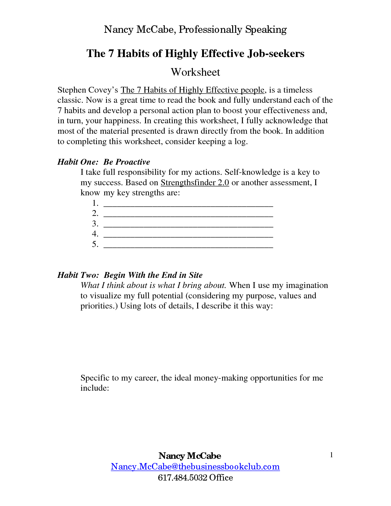 13 Best Images Of 7 Habits Teens Worksheets